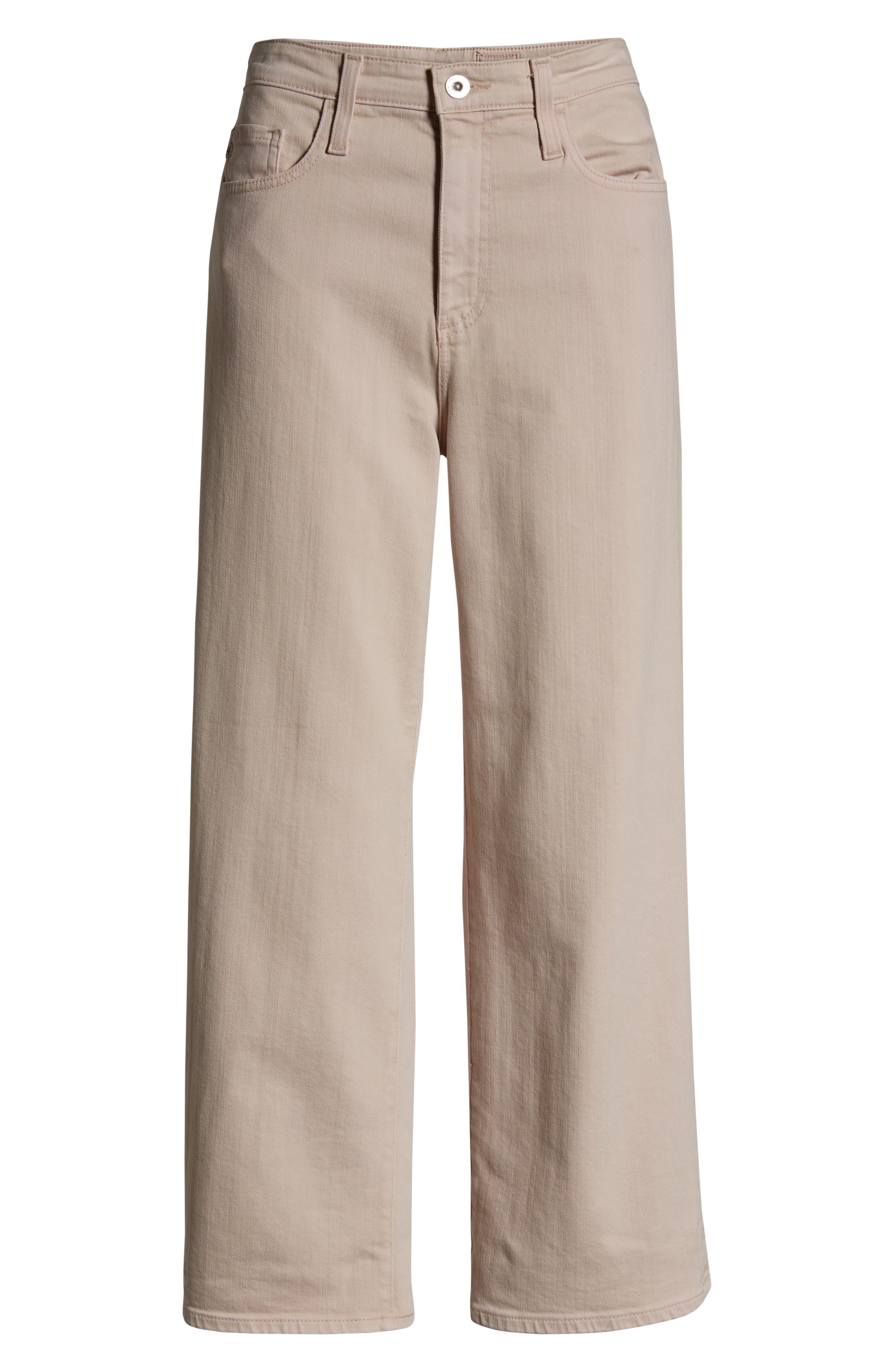 AG, Etta High Waist Crop Wide Leg Jeans, Alternate thumbnail 7, color, SULFUR PEAKED PINK