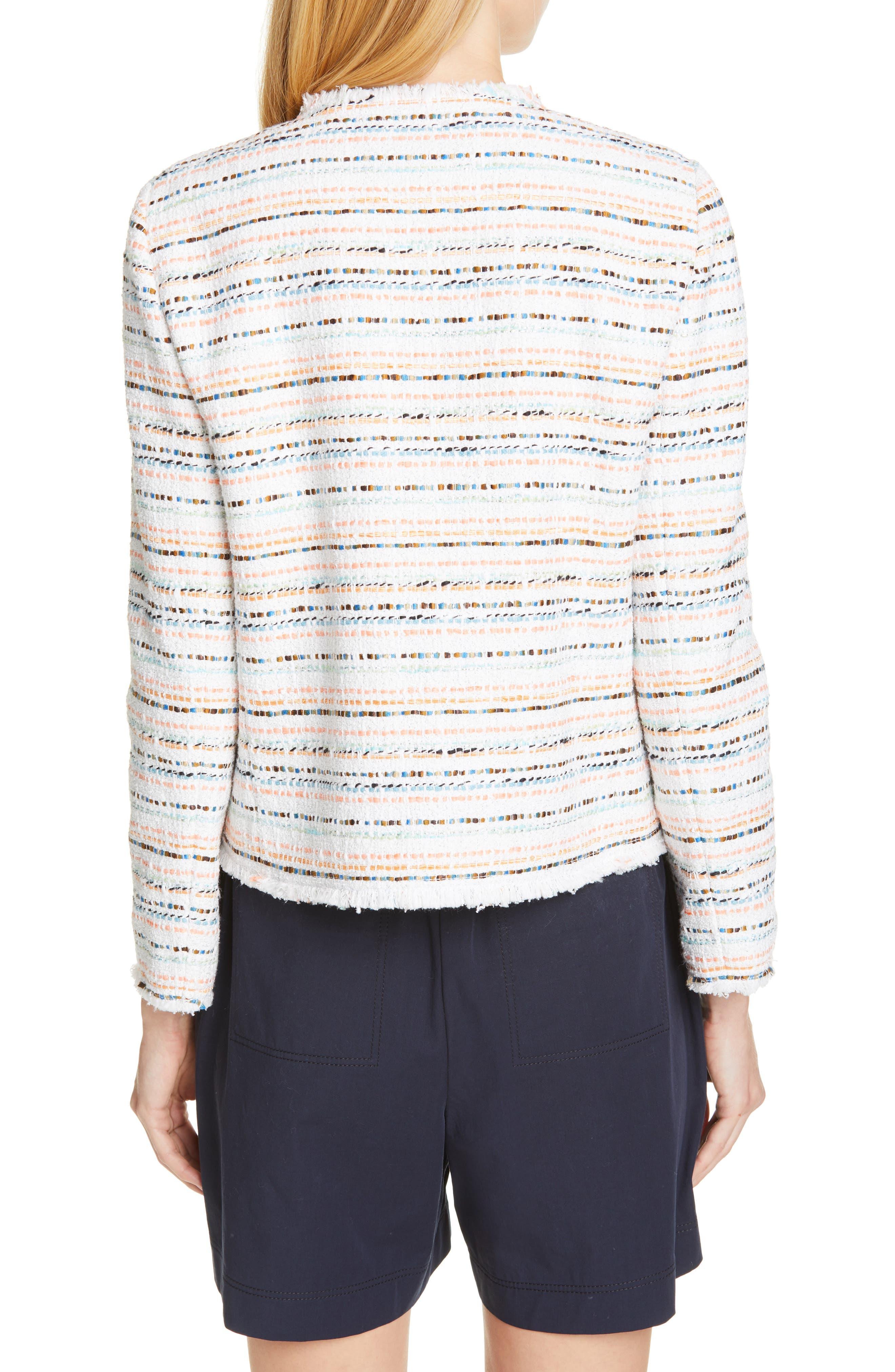 LAFAYETTE 148 NEW YORK Albano Jacket, Main, color, WHITE MULTI