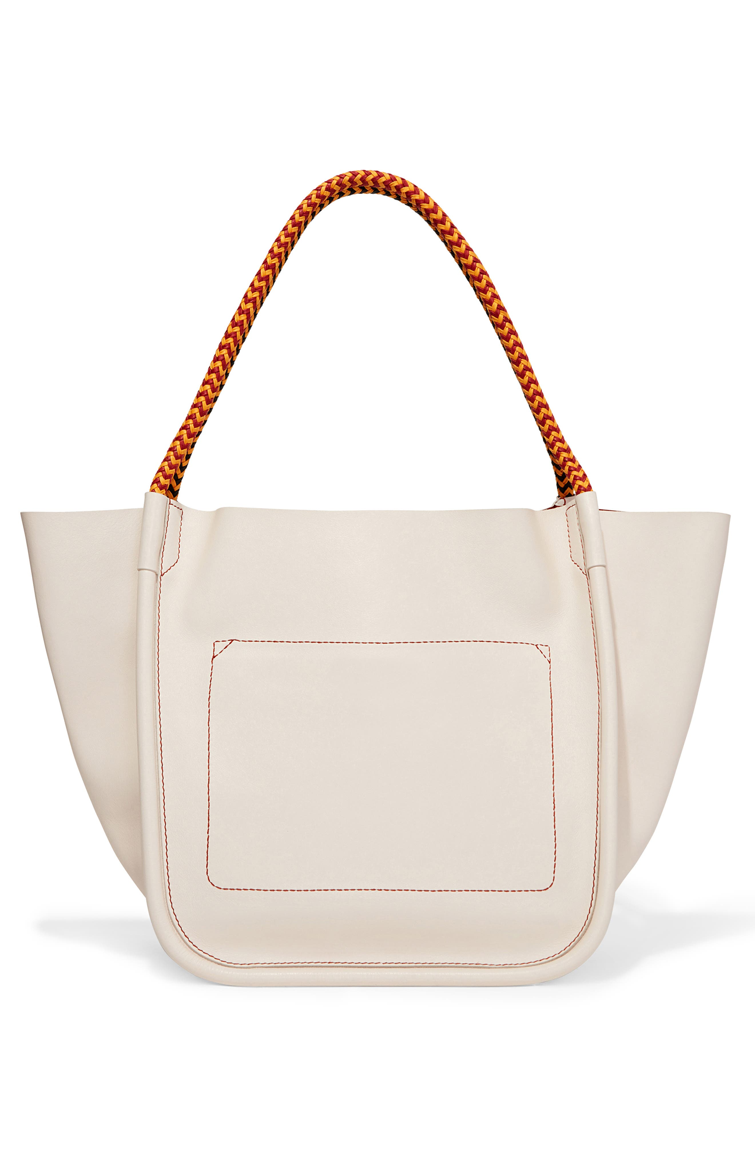 PROENZA SCHOULER, Large Calfskin Leather Tote, Alternate thumbnail 3, color, CLAY