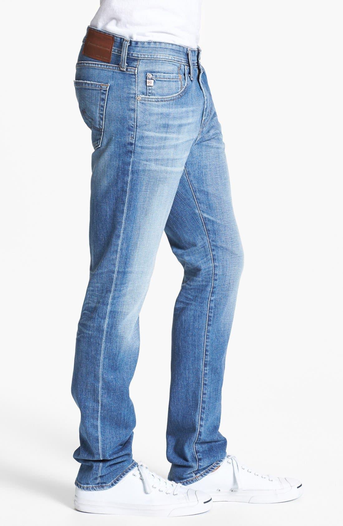 AG, 'Dylan' Slim Skinny Leg Jeans, Alternate thumbnail 4, color, 454