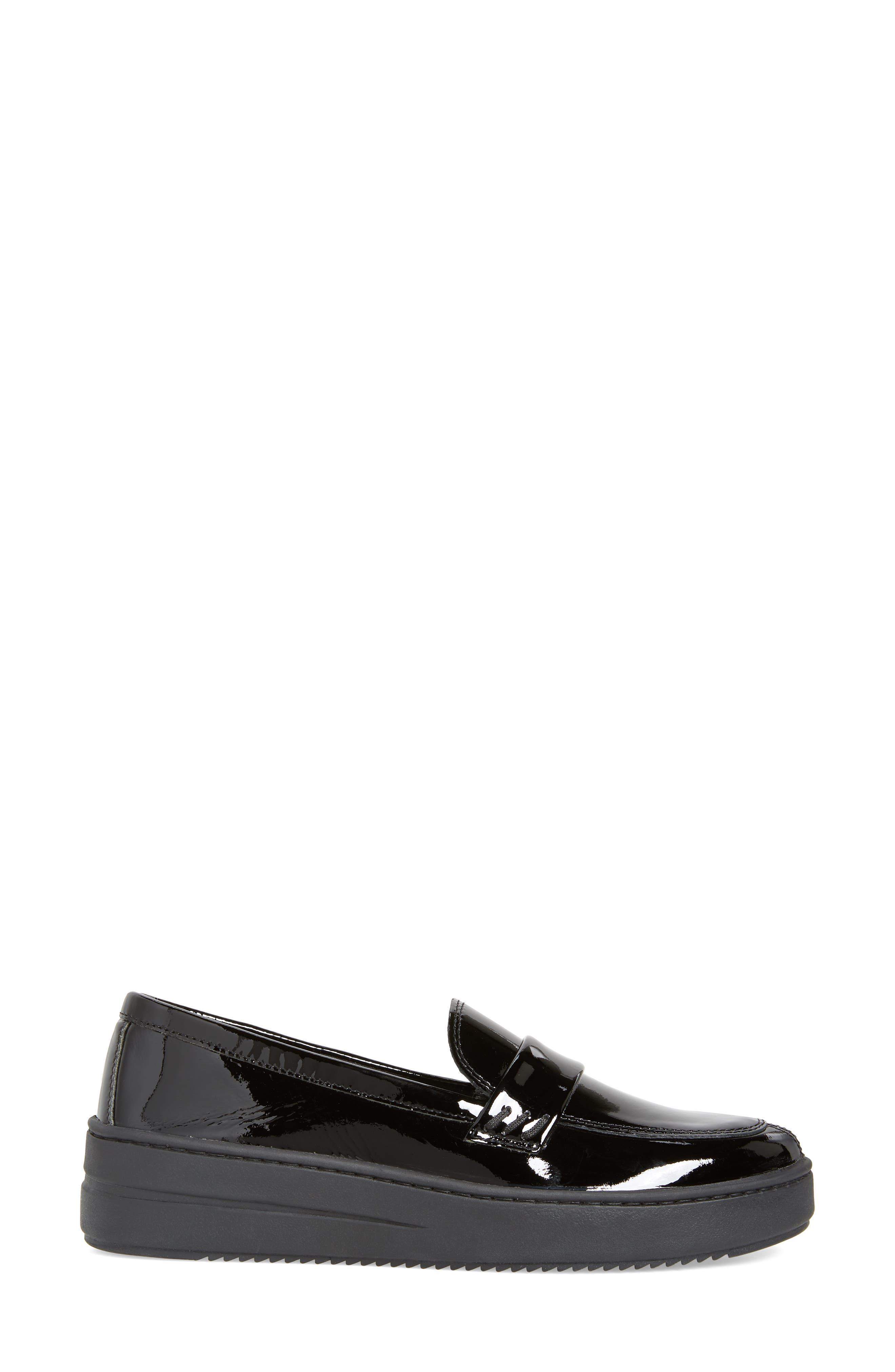 THE FLEXX, No Loaf N Loafer, Alternate thumbnail 3, color, BLACK PATENT LEATHER