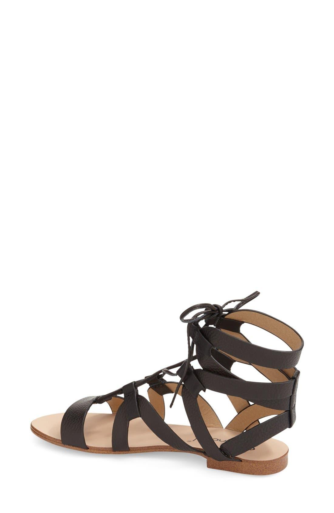 SPLENDID, 'Cameron' Lace-Up Sandal, Alternate thumbnail 3, color, 001