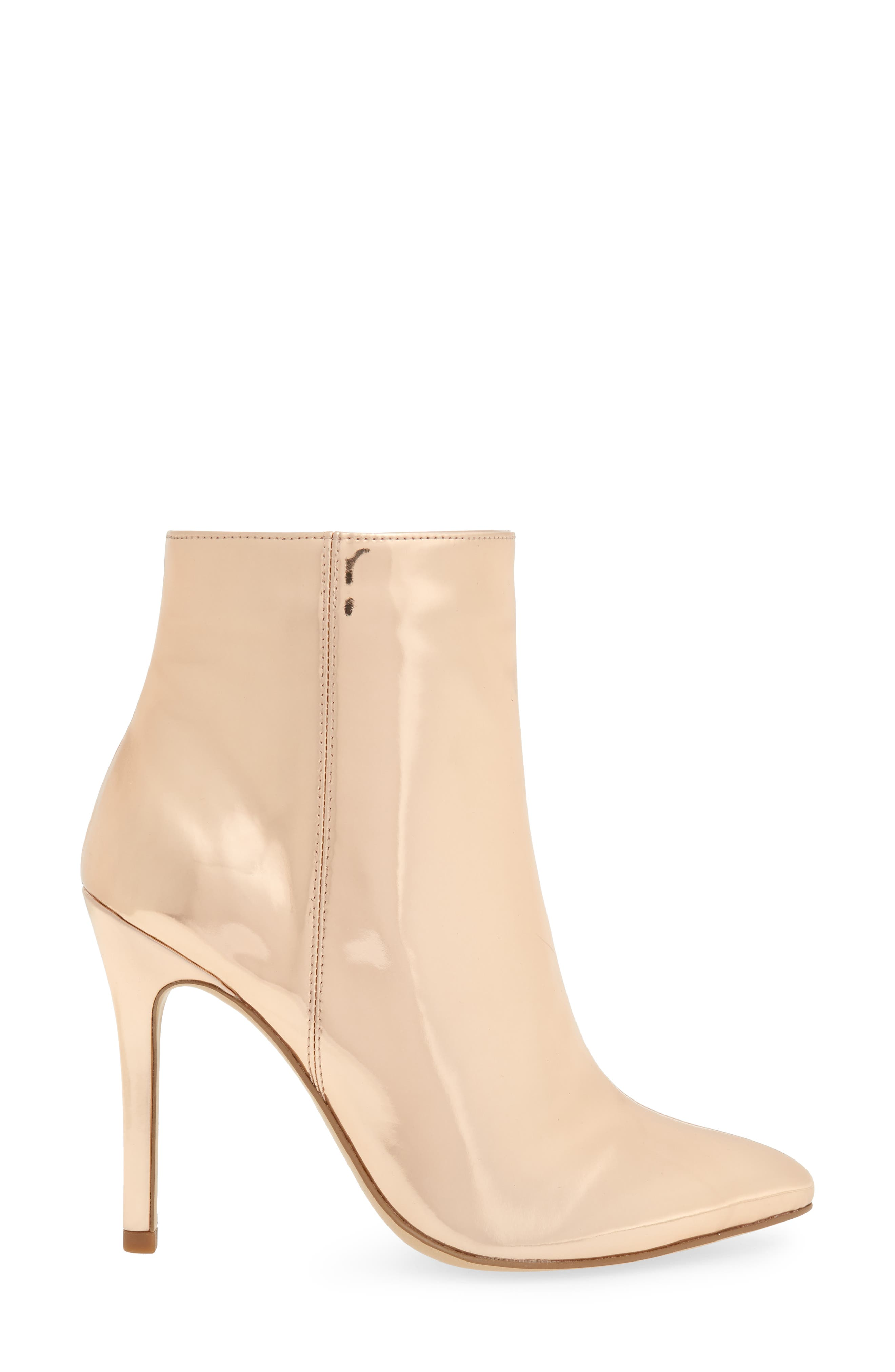 CHARLES BY CHARLES DAVID, Delicious Bootie, Alternate thumbnail 3, color, ROSE GOLD LEATHER