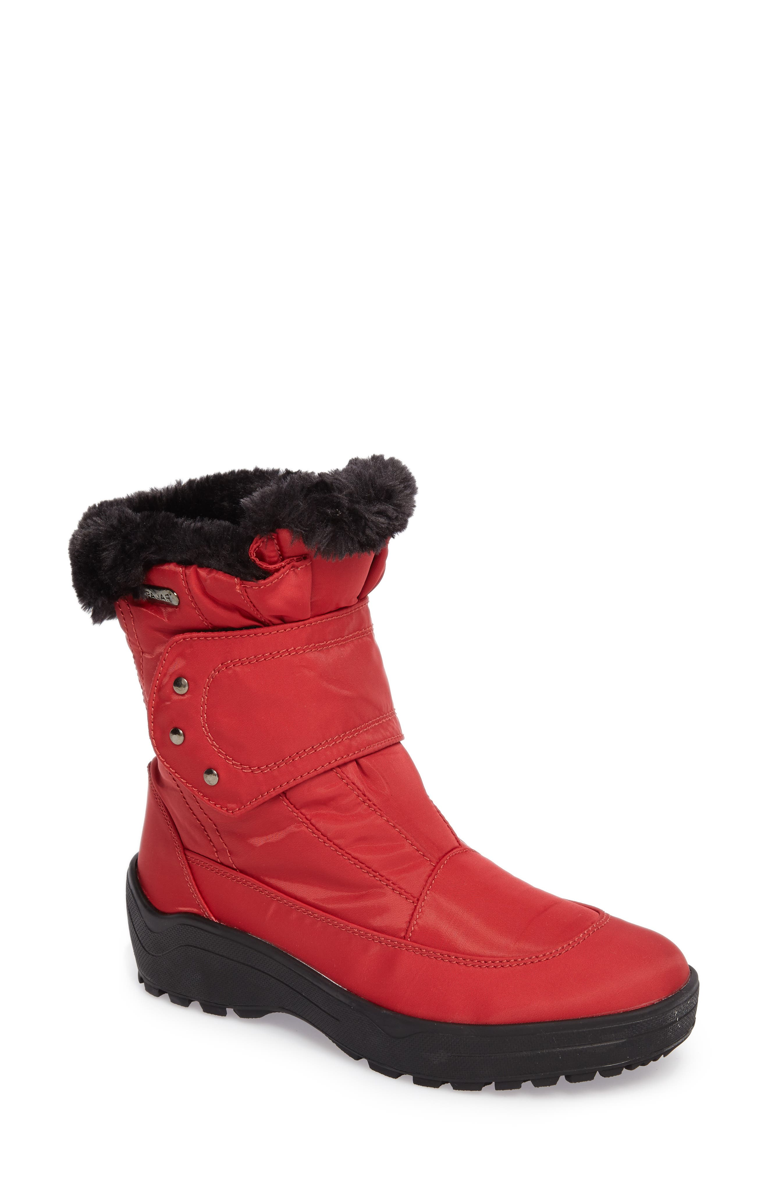 PAJAR Shoes Moscou Snow Boot, Main, color, RED FABRIC