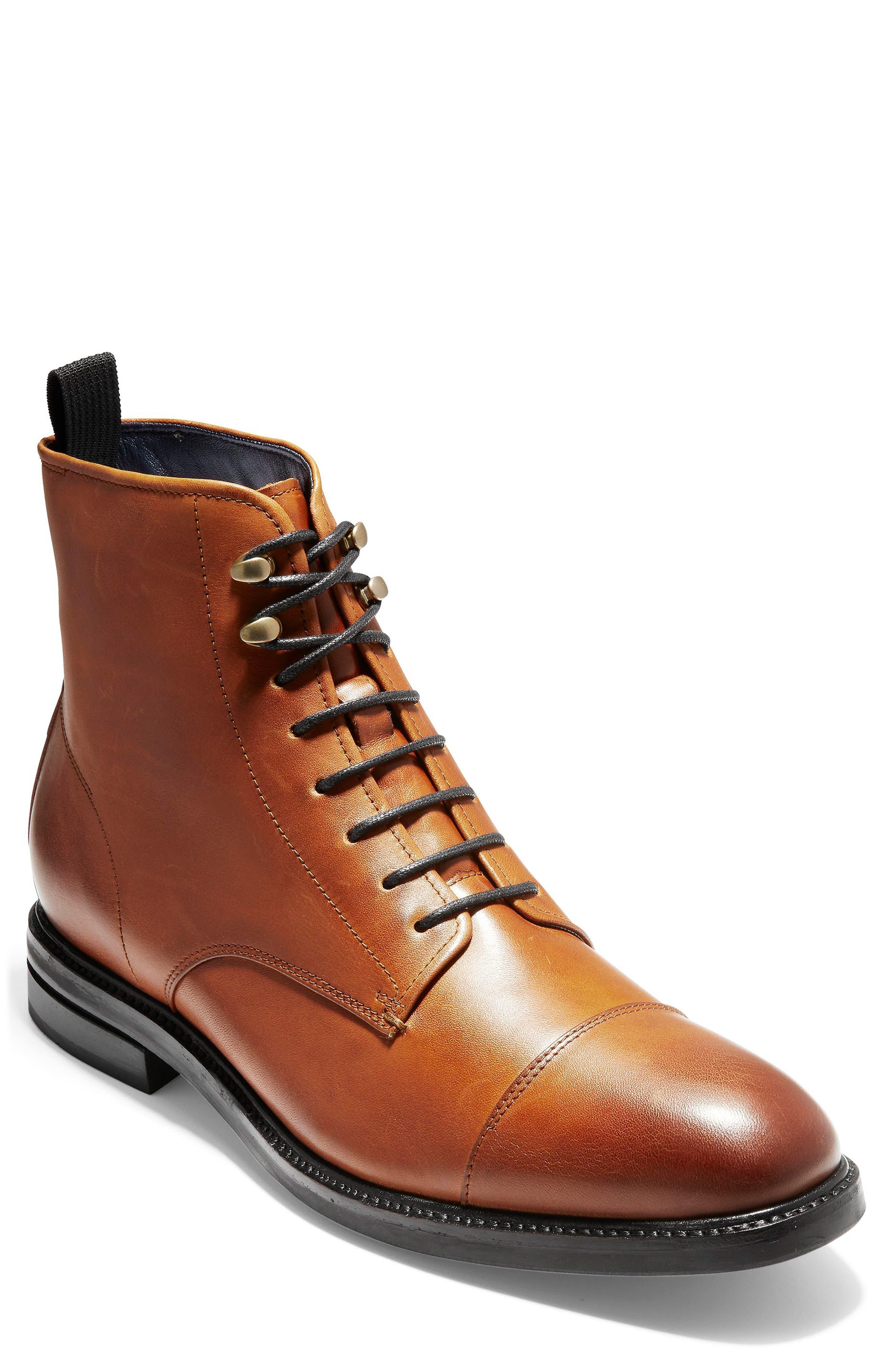 Cole Haan Wagner Grand Cap Toe Waterproof Boot- Brown