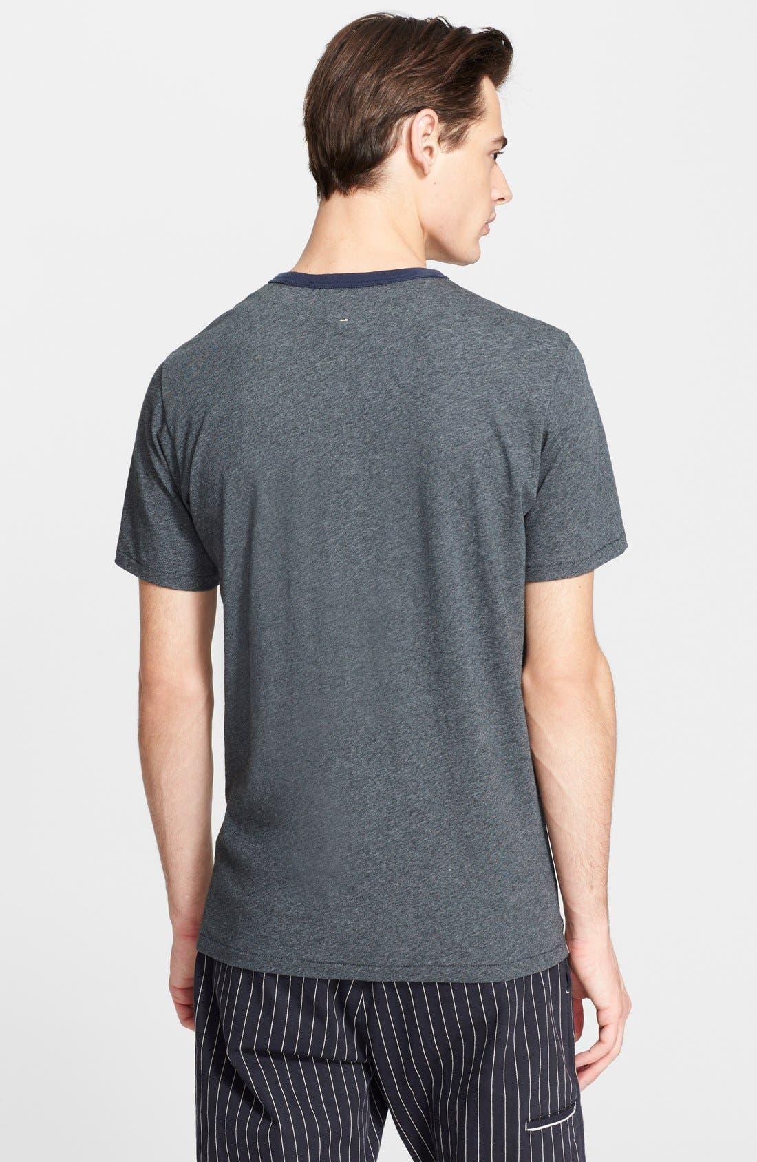 RAG & BONE, Ringer T-Shirt, Alternate thumbnail 3, color, 050