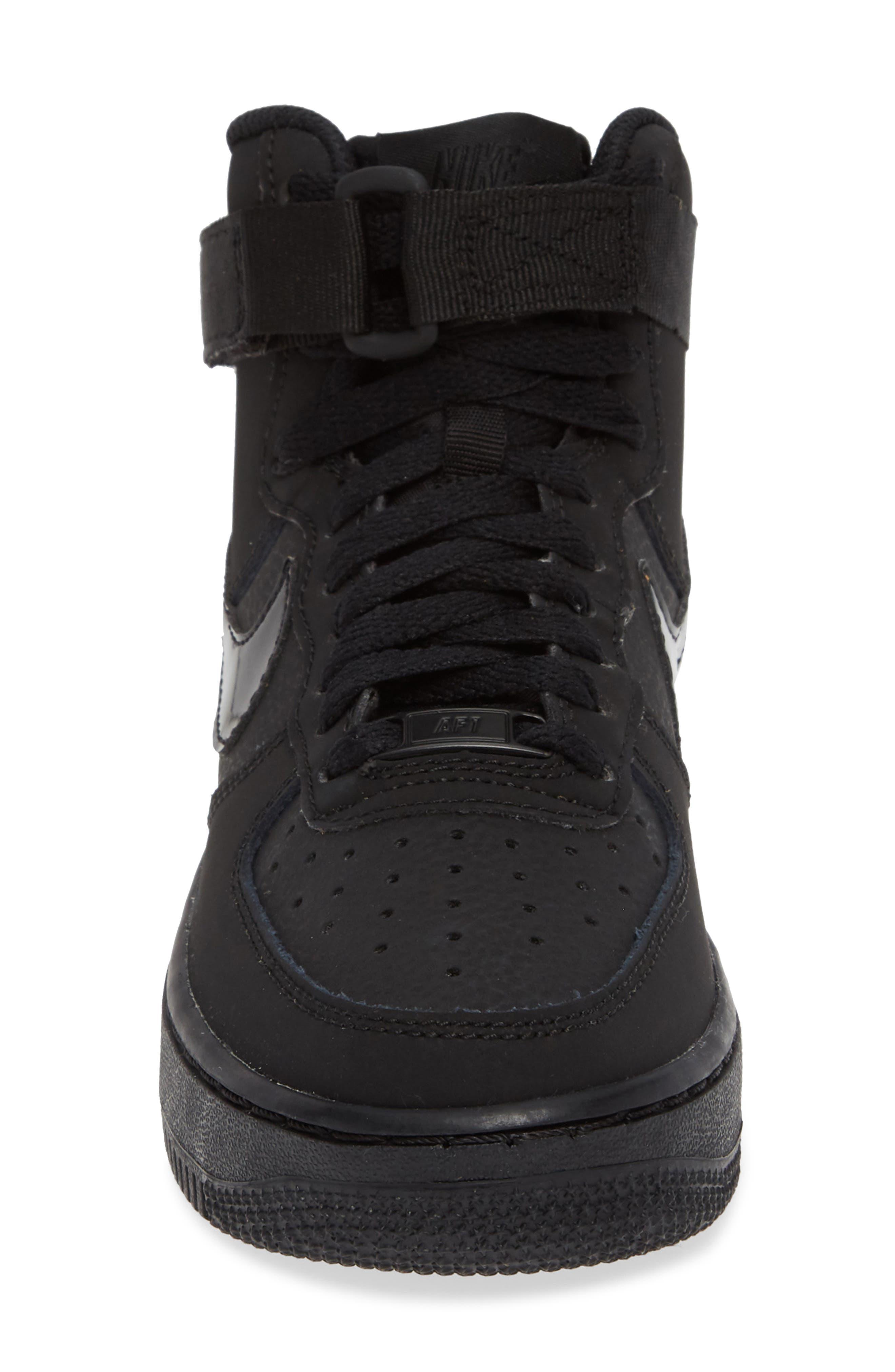 NIKE, Air Force 1 High Top Sneaker, Alternate thumbnail 4, color, 001