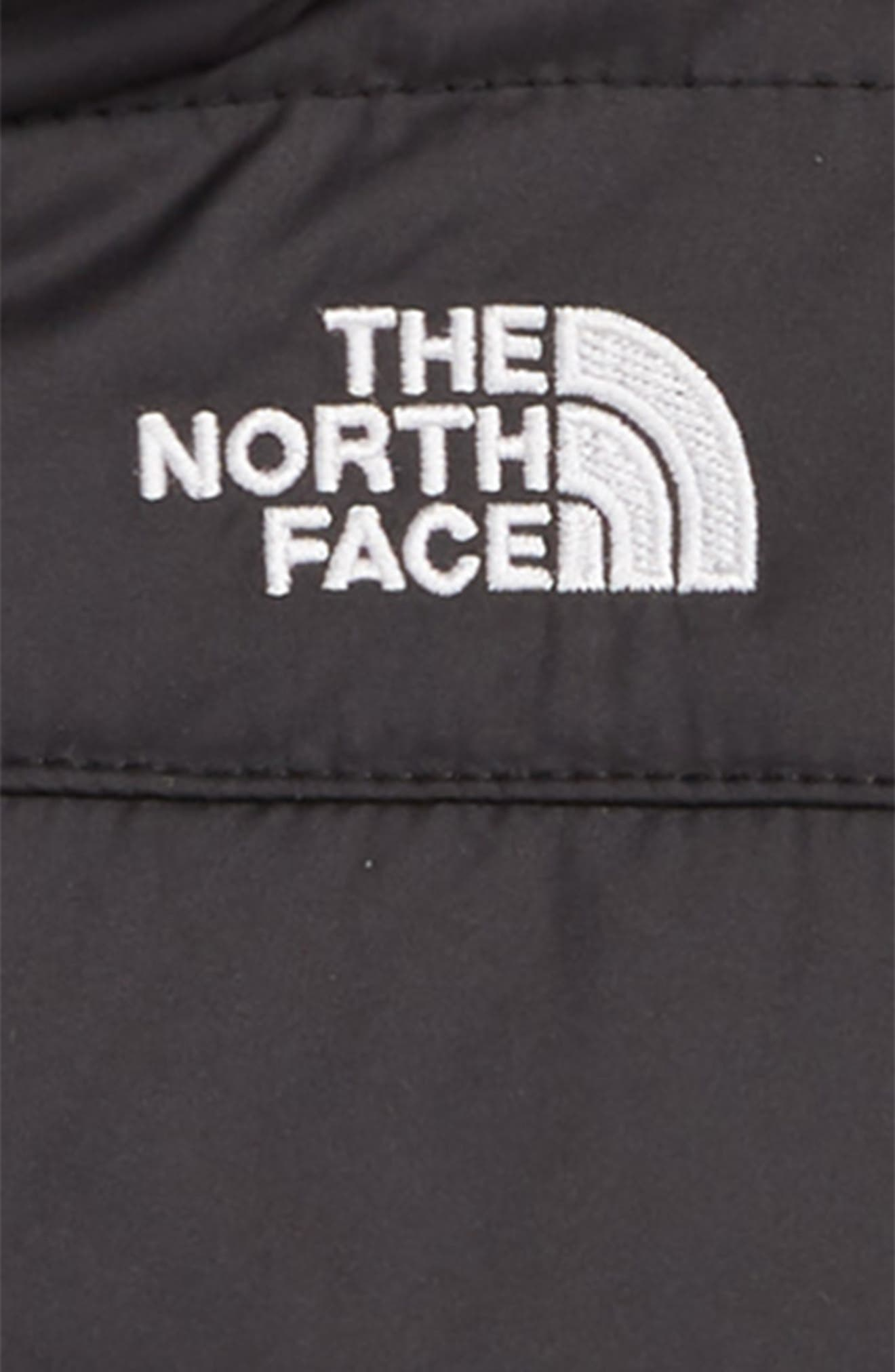 THE NORTH FACE, Mount Chimboraz Reversible Water Repellent Heatseeker<sup>™</sup> Insulated Hooded Jacket, Alternate thumbnail 3, color, 001