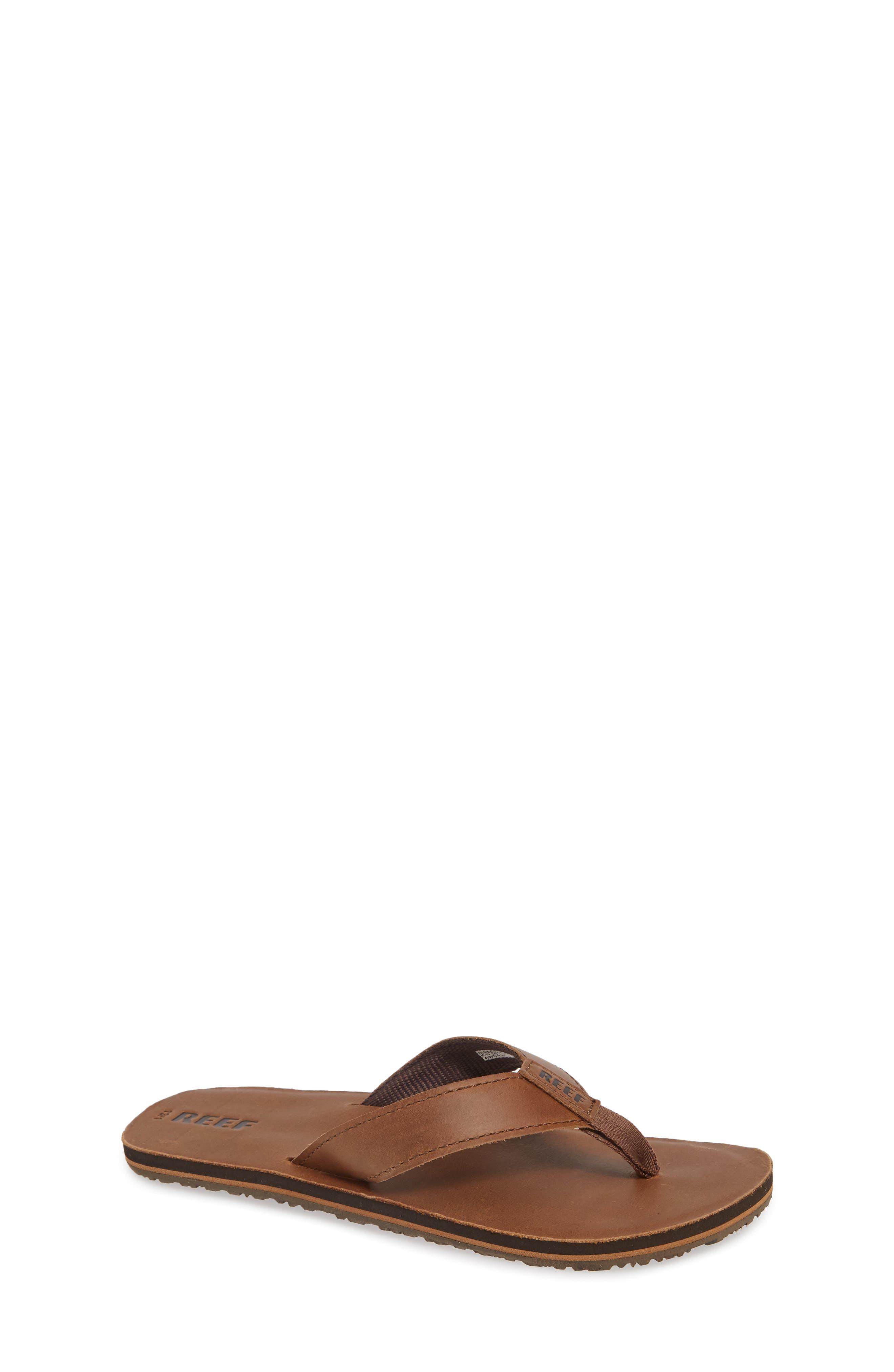 REEF Smoothy Flip Flop, Main, color, BRONZE BROWN