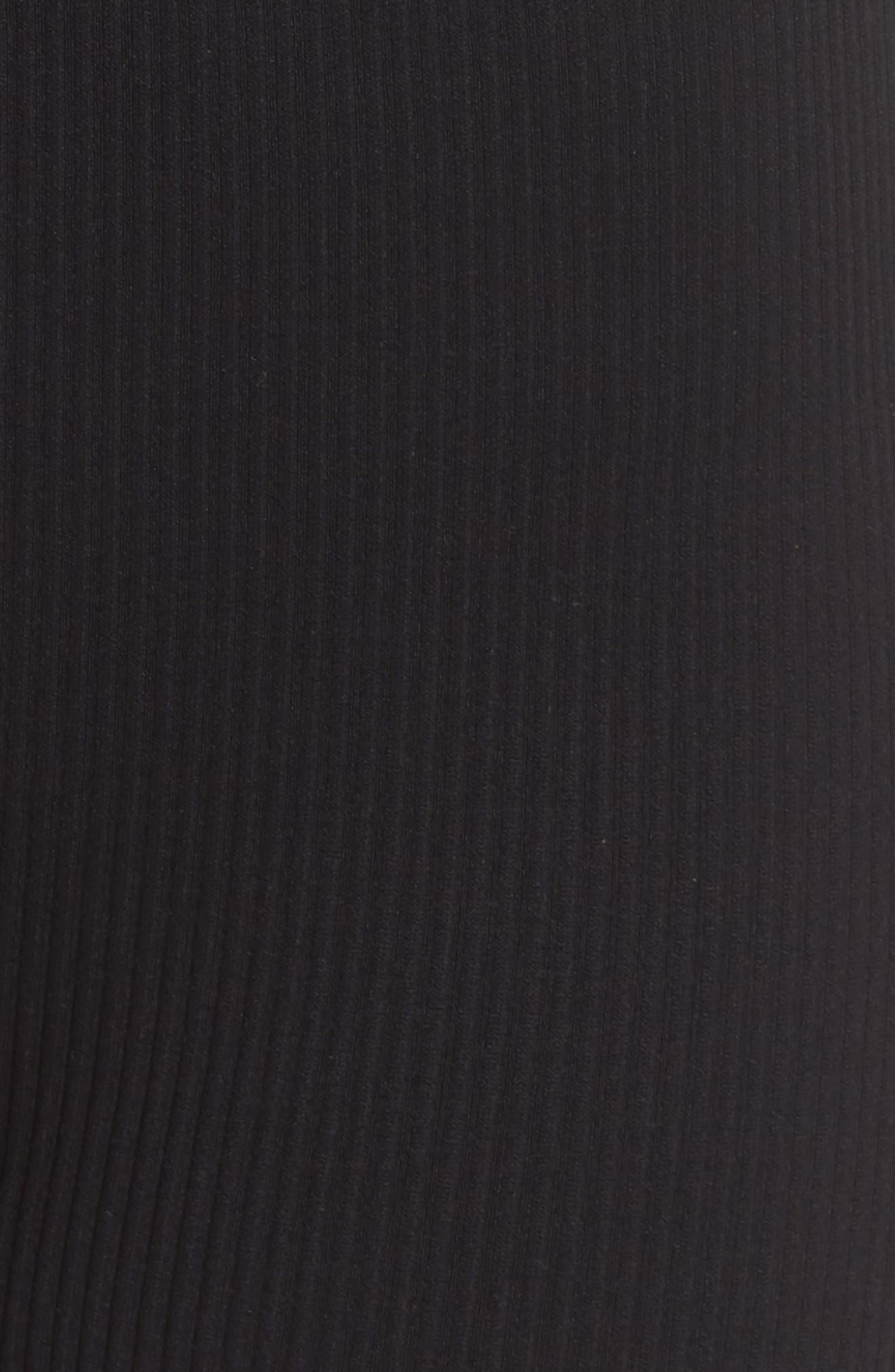 FREE PEOPLE MOVEMENT, Seamless Shorts, Alternate thumbnail 6, color, BLACK