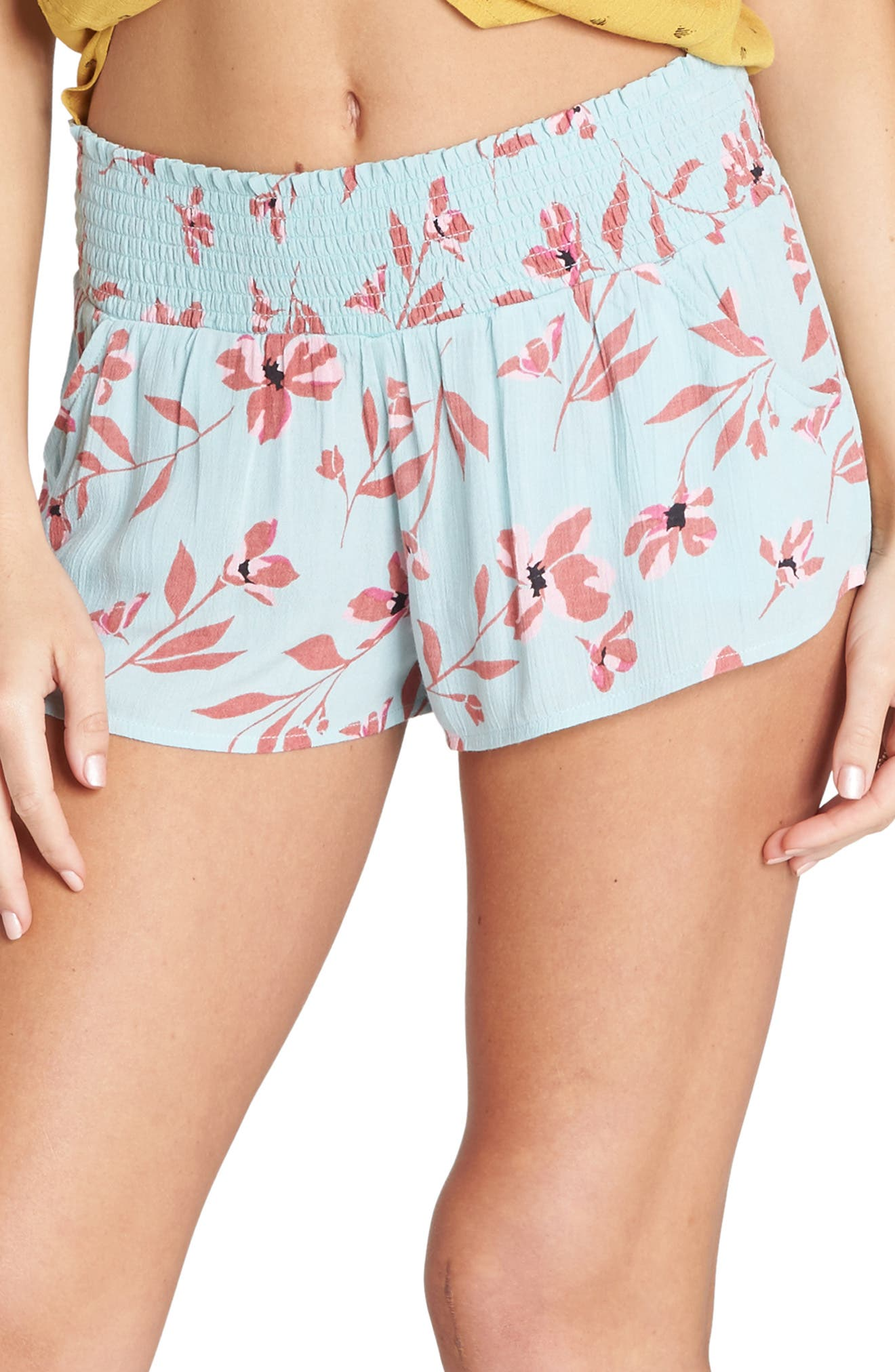 BILLABONG Waves All Day Print Shorts, Main, color, BEACH GLASS