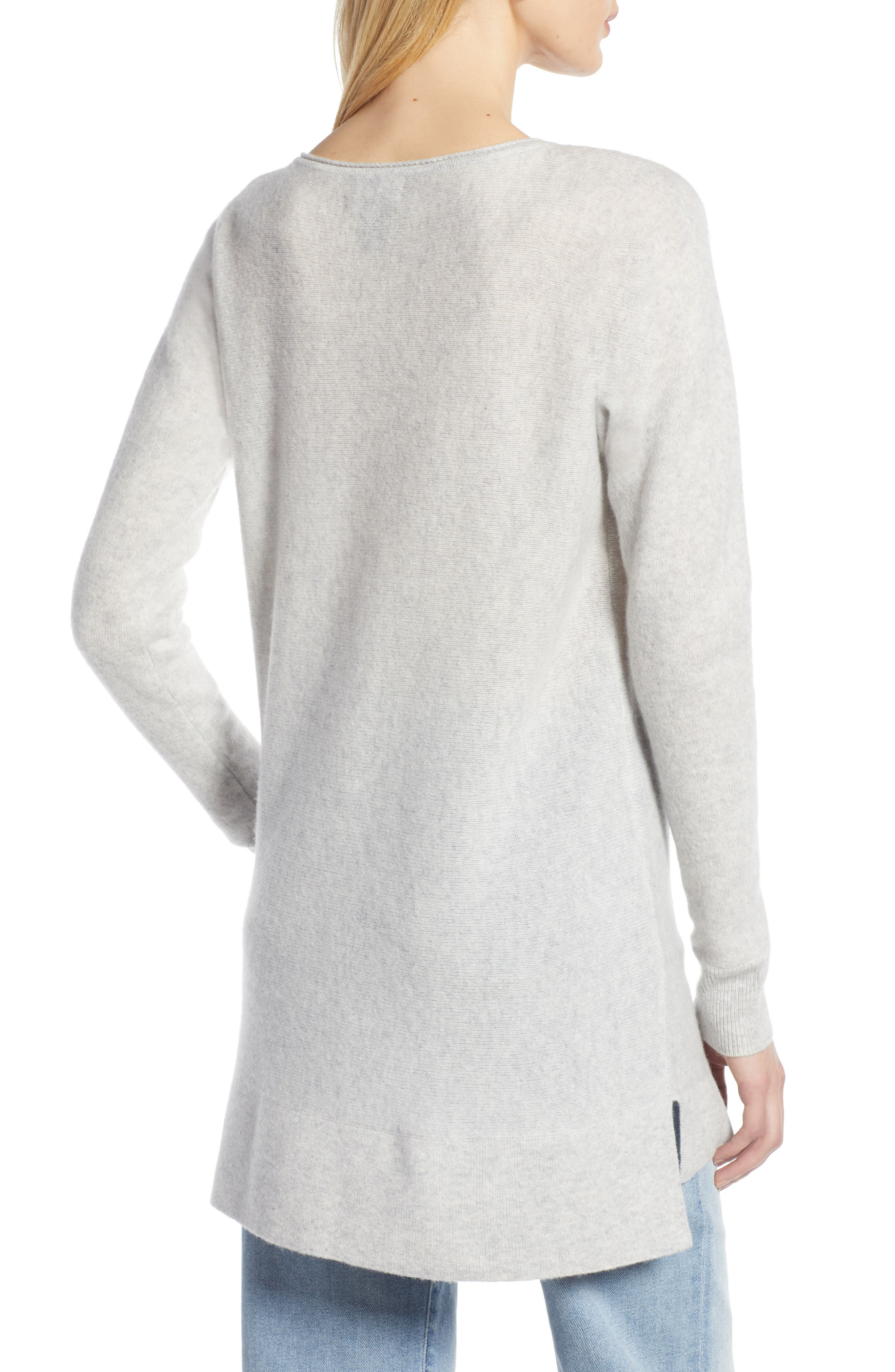 HALOGEN<SUP>®</SUP>, High/Low Wool & Cashmere Tunic Sweater, Alternate thumbnail 2, color, 023