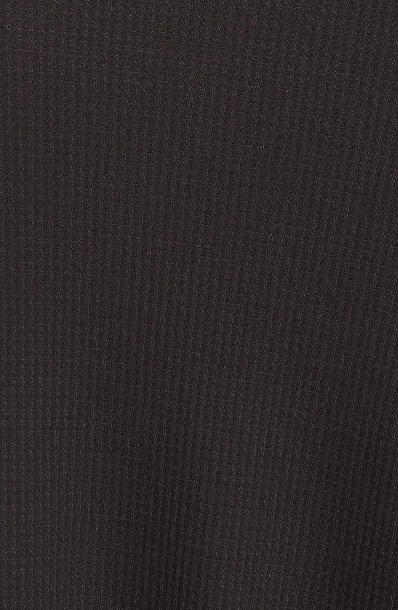 CASLON<SUP>®</SUP>, Shirttail Tank, Alternate thumbnail 5, color, BLACK