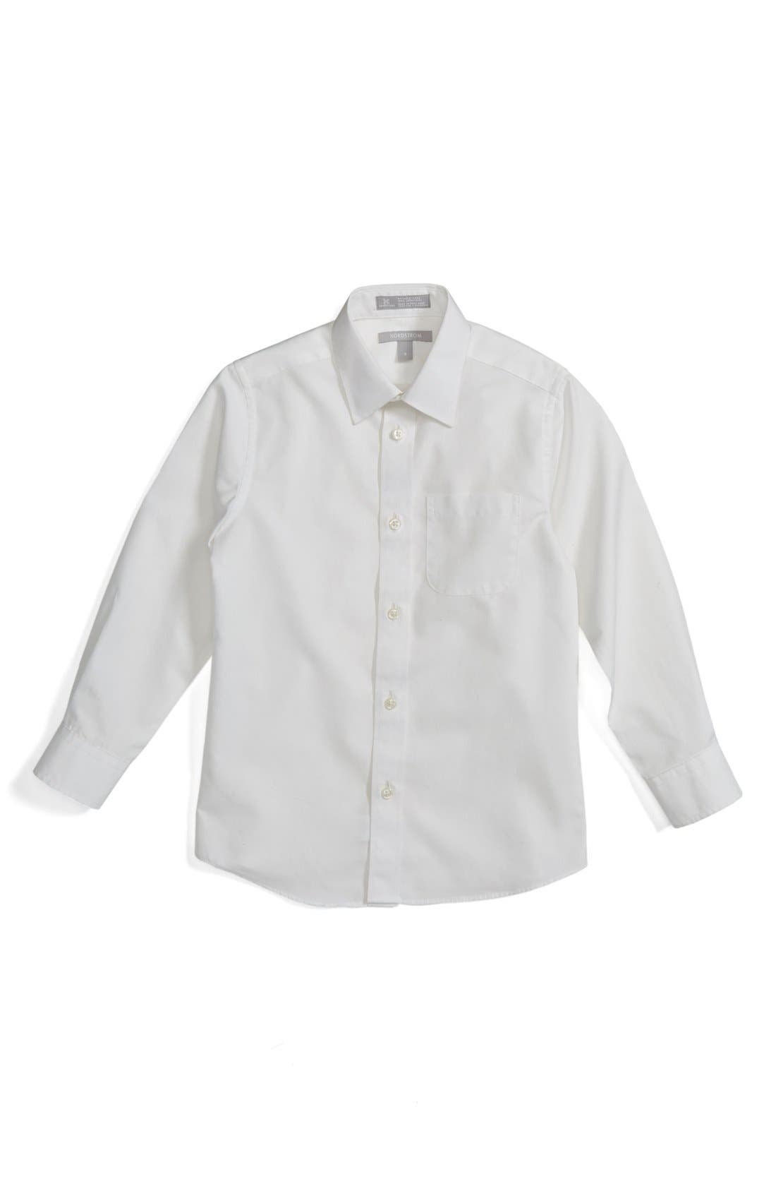 NORDSTROM, Smartcare<sup>™</sup> Dress Shirt, Main thumbnail 1, color, WHITE