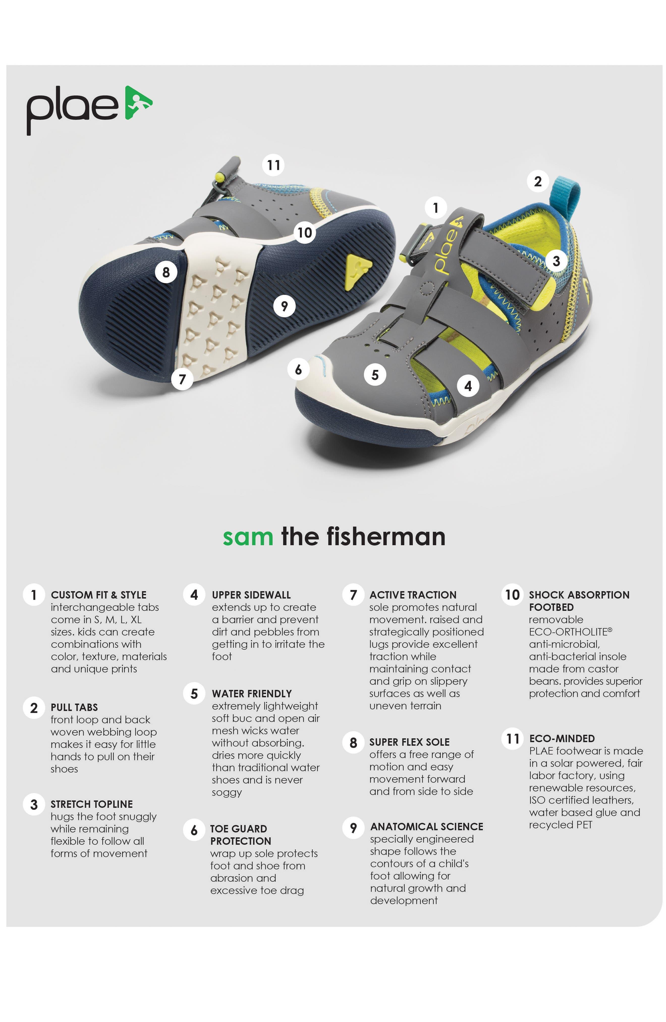 PLAE, Sam Sneaker, Alternate thumbnail 5, color, STEEL