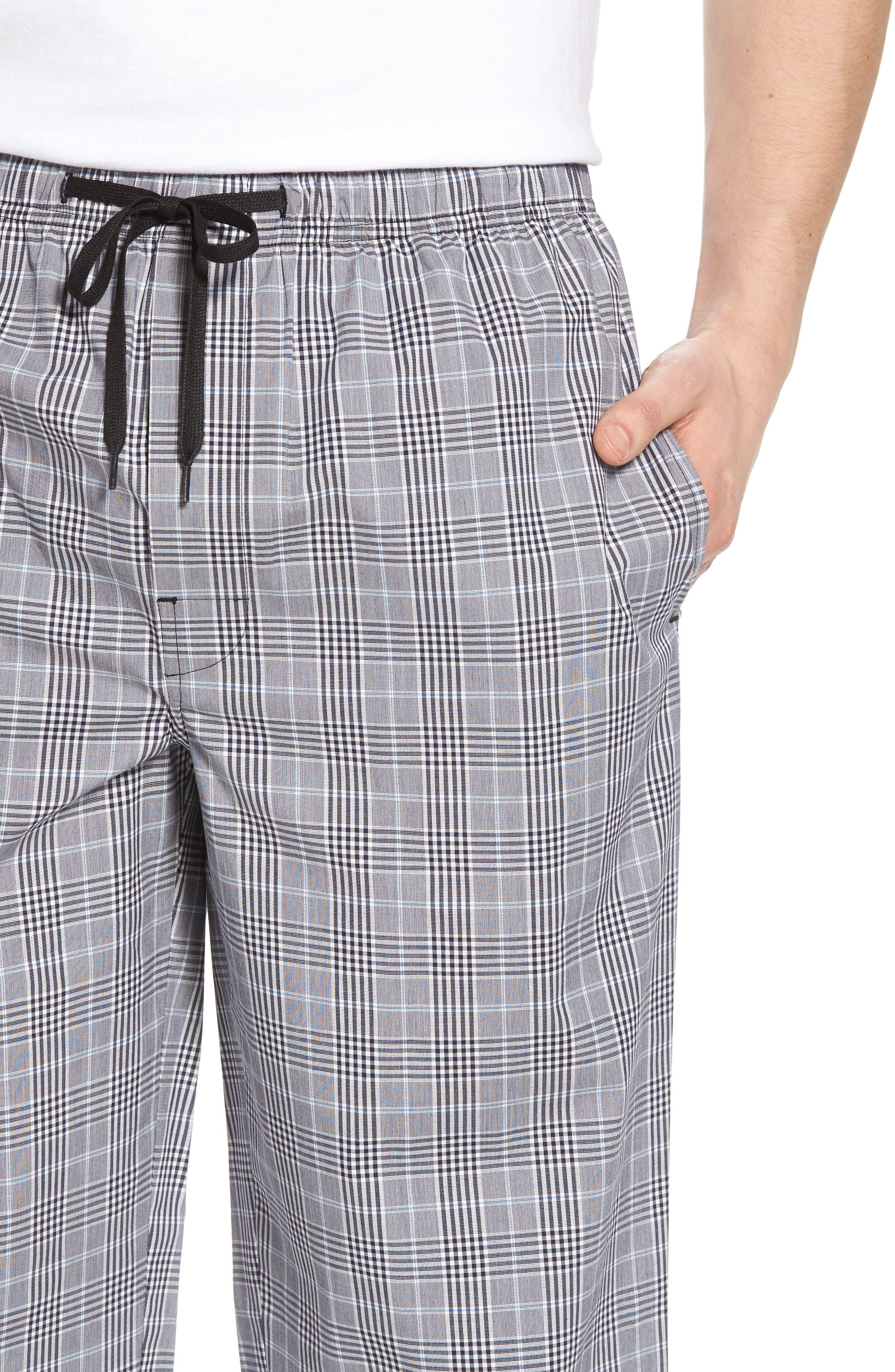 MAJESTIC INTERNATIONAL, Charleston Lounge Pants, Alternate thumbnail 4, color, BLACK PLAID