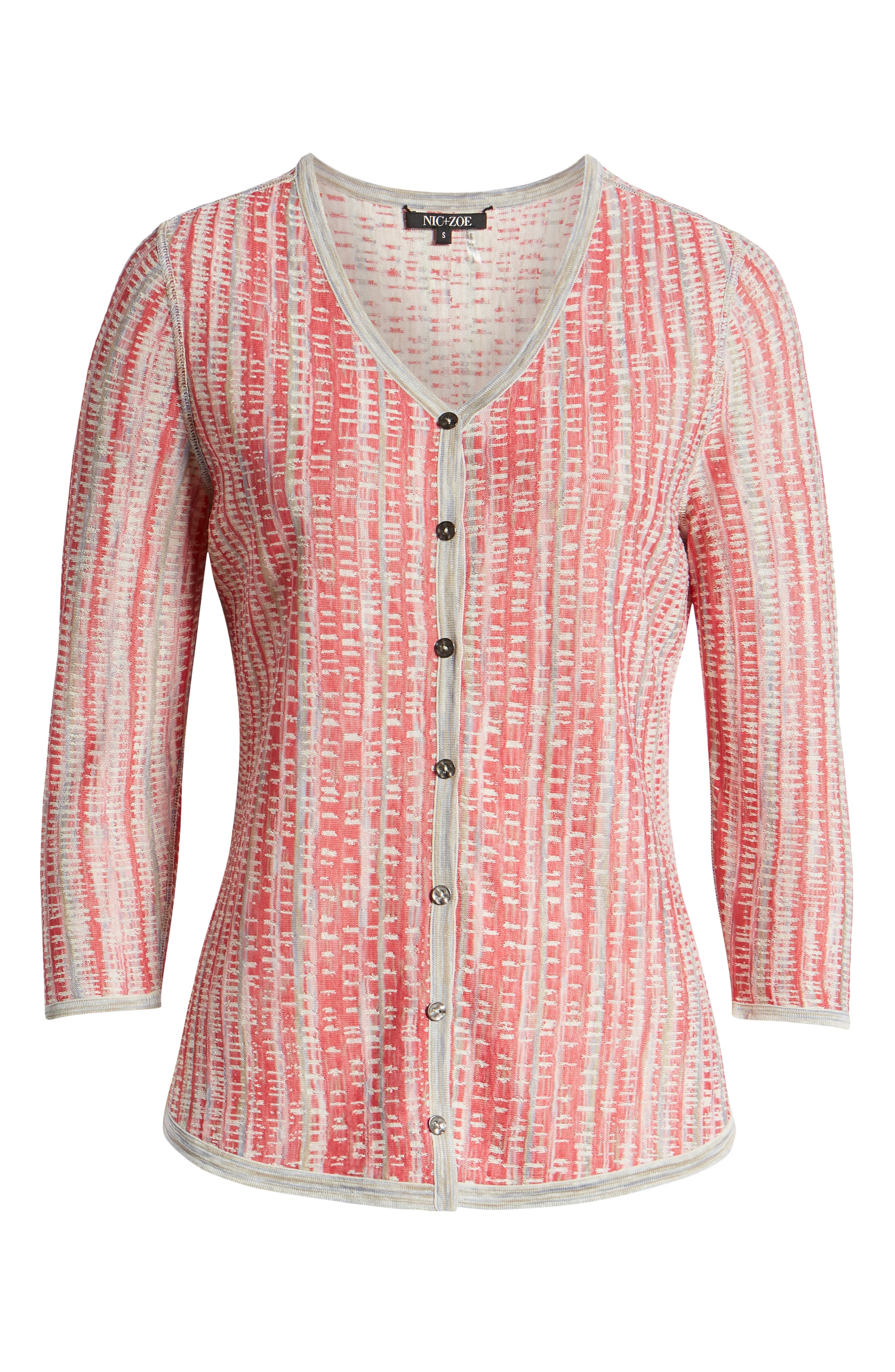 NIC+ZOE, Tubular Sunset Cardigan, Alternate thumbnail 7, color, MULTI