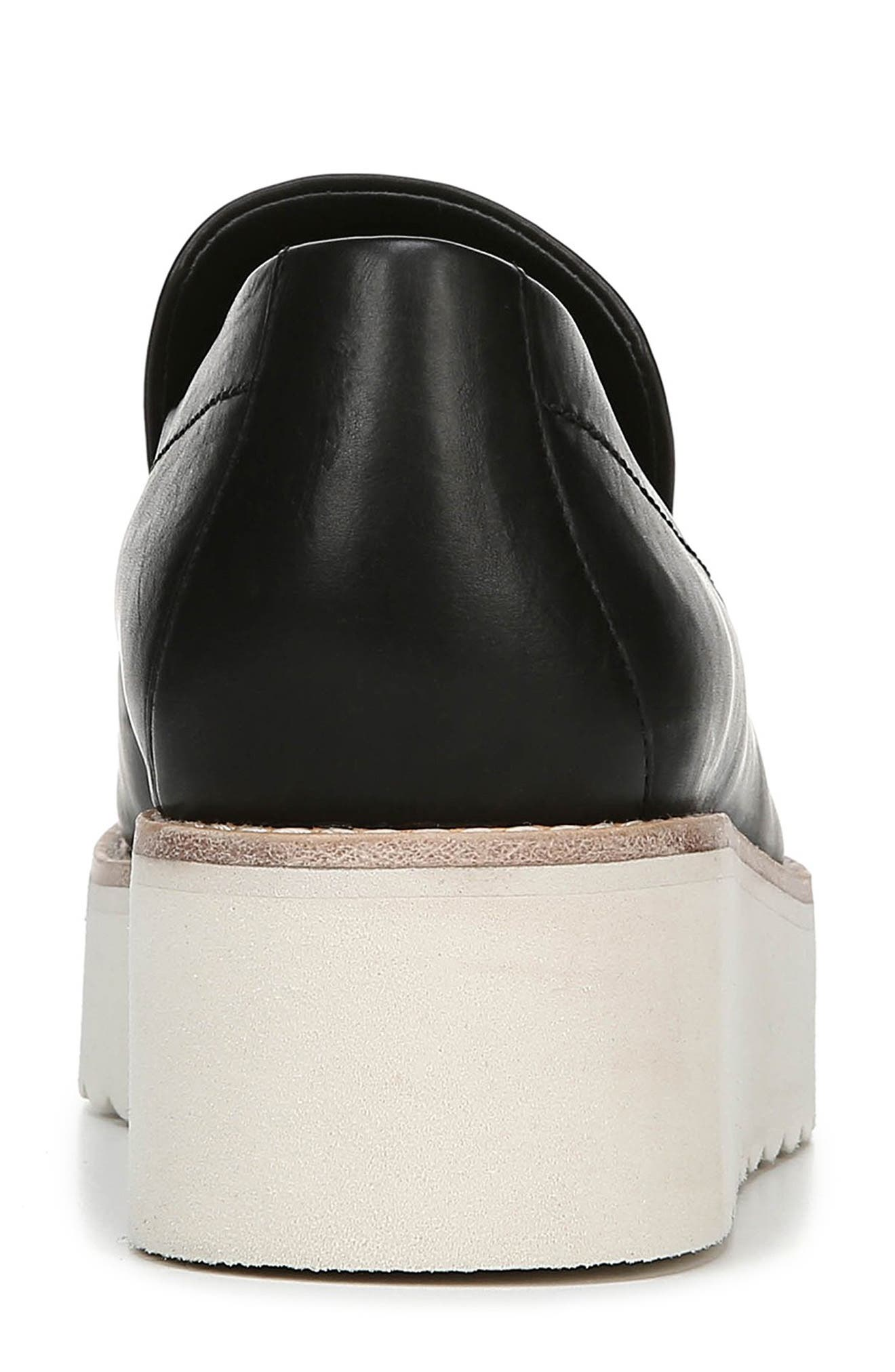 VINCE, Zeta Platform Loafer, Alternate thumbnail 7, color, BLACK FOULARD LEATHER