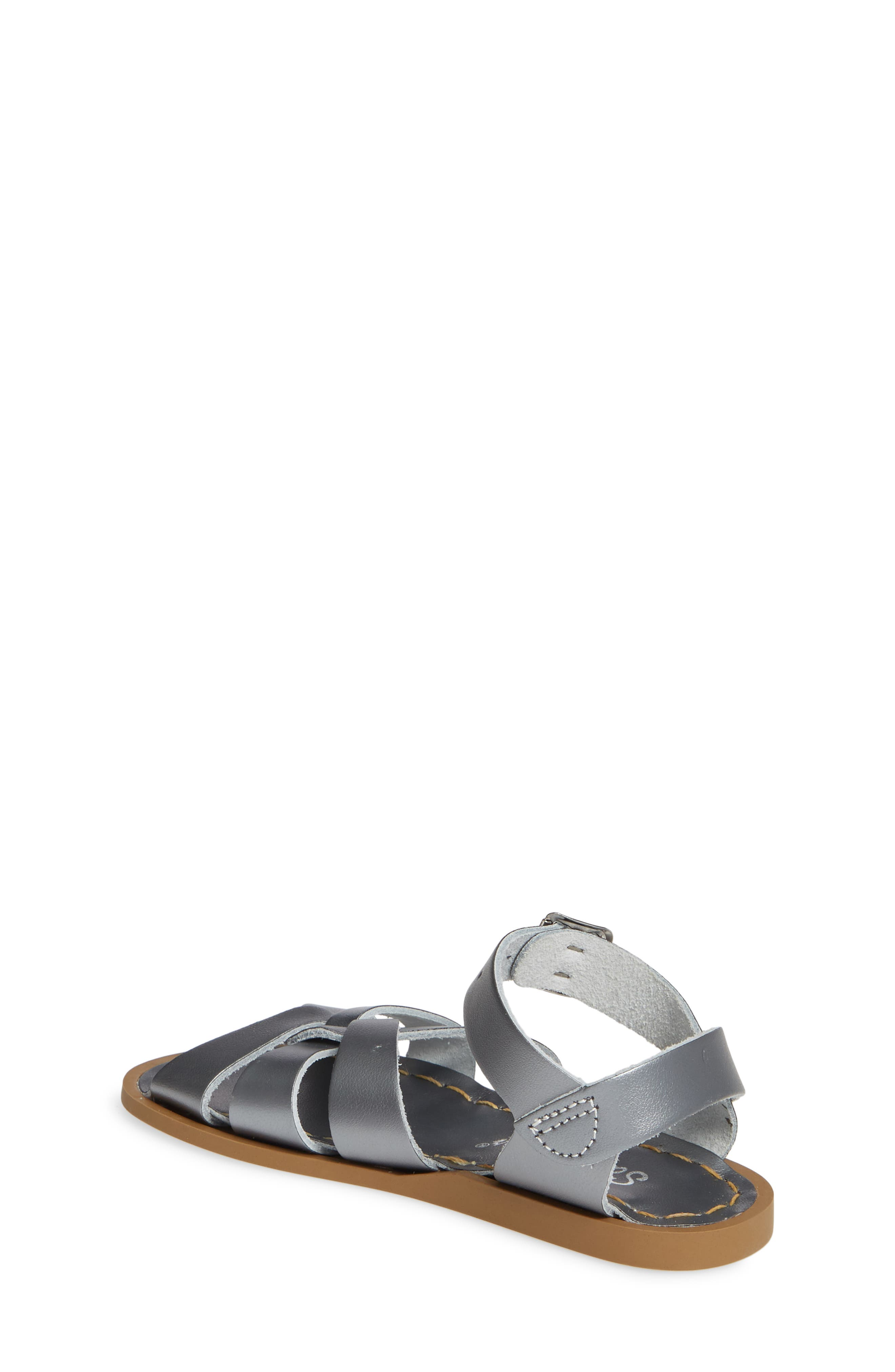 SALT WATER SANDALS BY HOY, Water Friendly Sandal, Alternate thumbnail 2, color, PEWTER