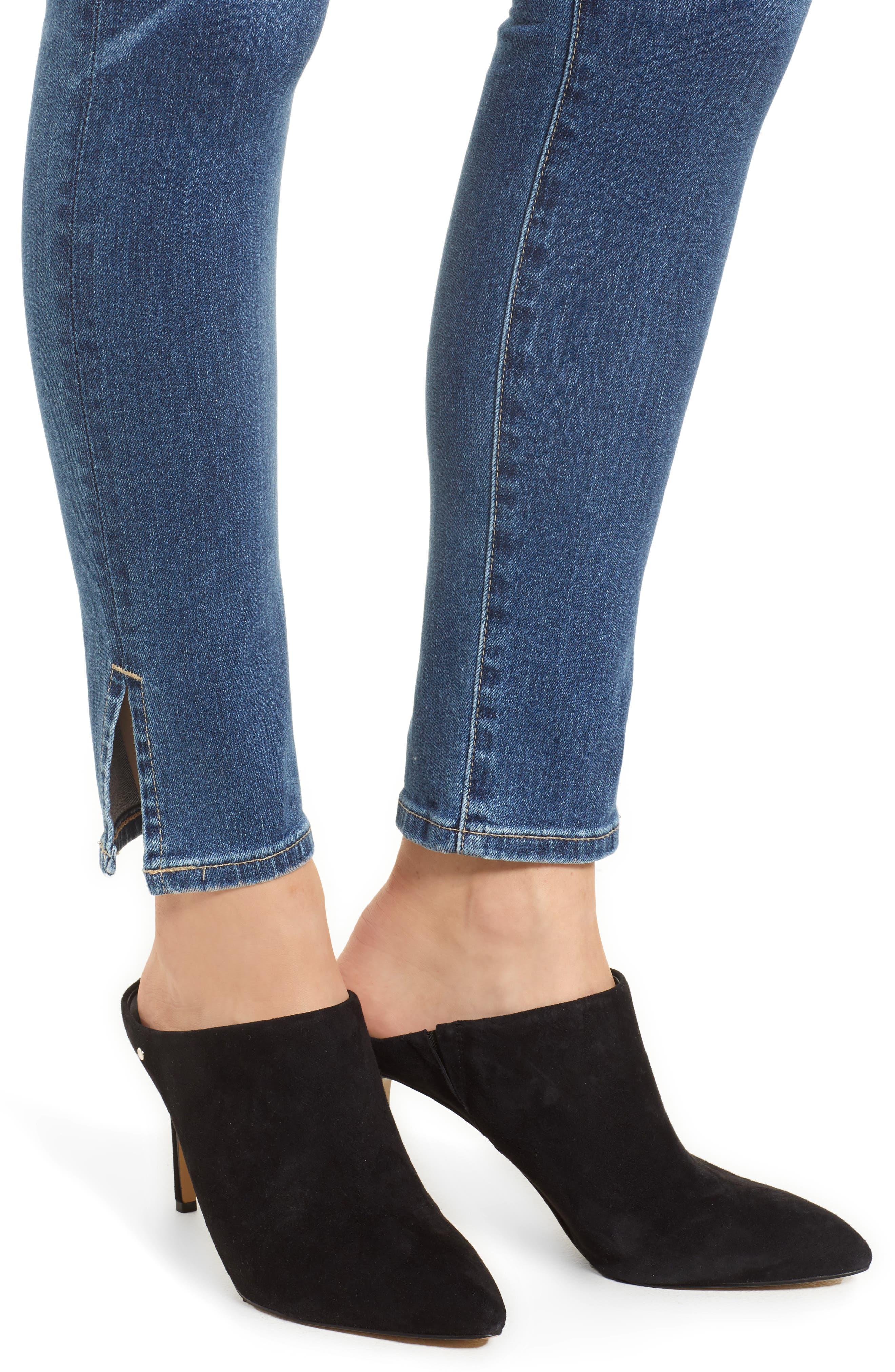 AG, Farrah High Waist Split Hem Skinny Jeans, Alternate thumbnail 5, color, 10 YEARS CAMBRIA