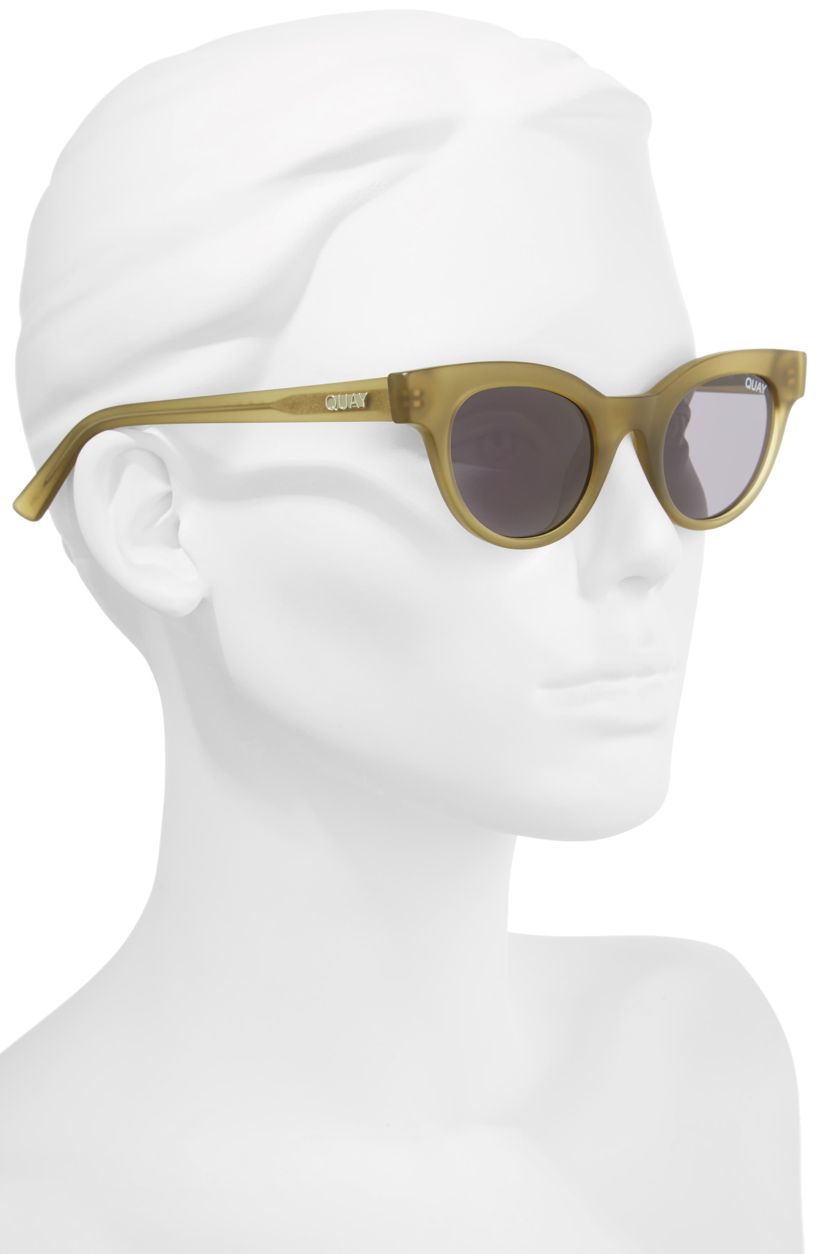 QUAY AUSTRALIA, Starstruck 48mm Cat Eye Sunglasses, Alternate thumbnail 2, color, 300