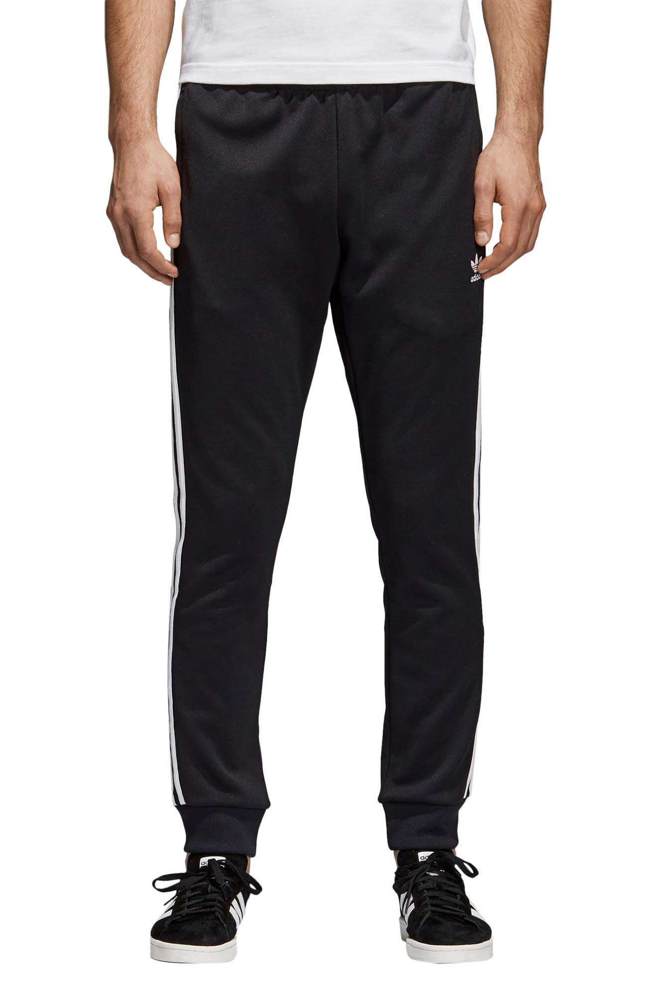ADIDAS ORIGINALS, Track Pants, Main thumbnail 1, color, BLACK