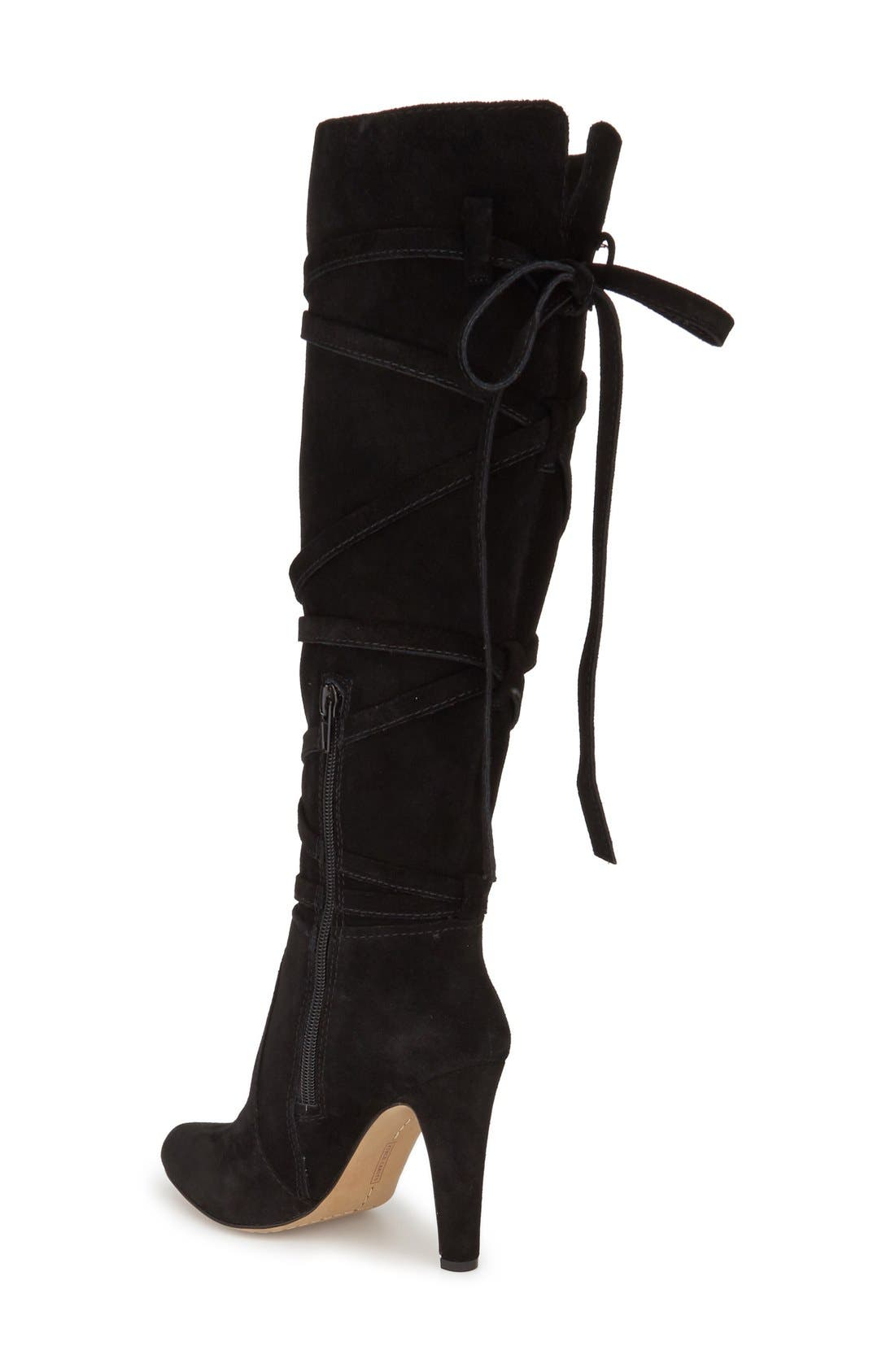 VINCE CAMUTO, 'Millay' Knee High Boot, Alternate thumbnail 3, color, 002