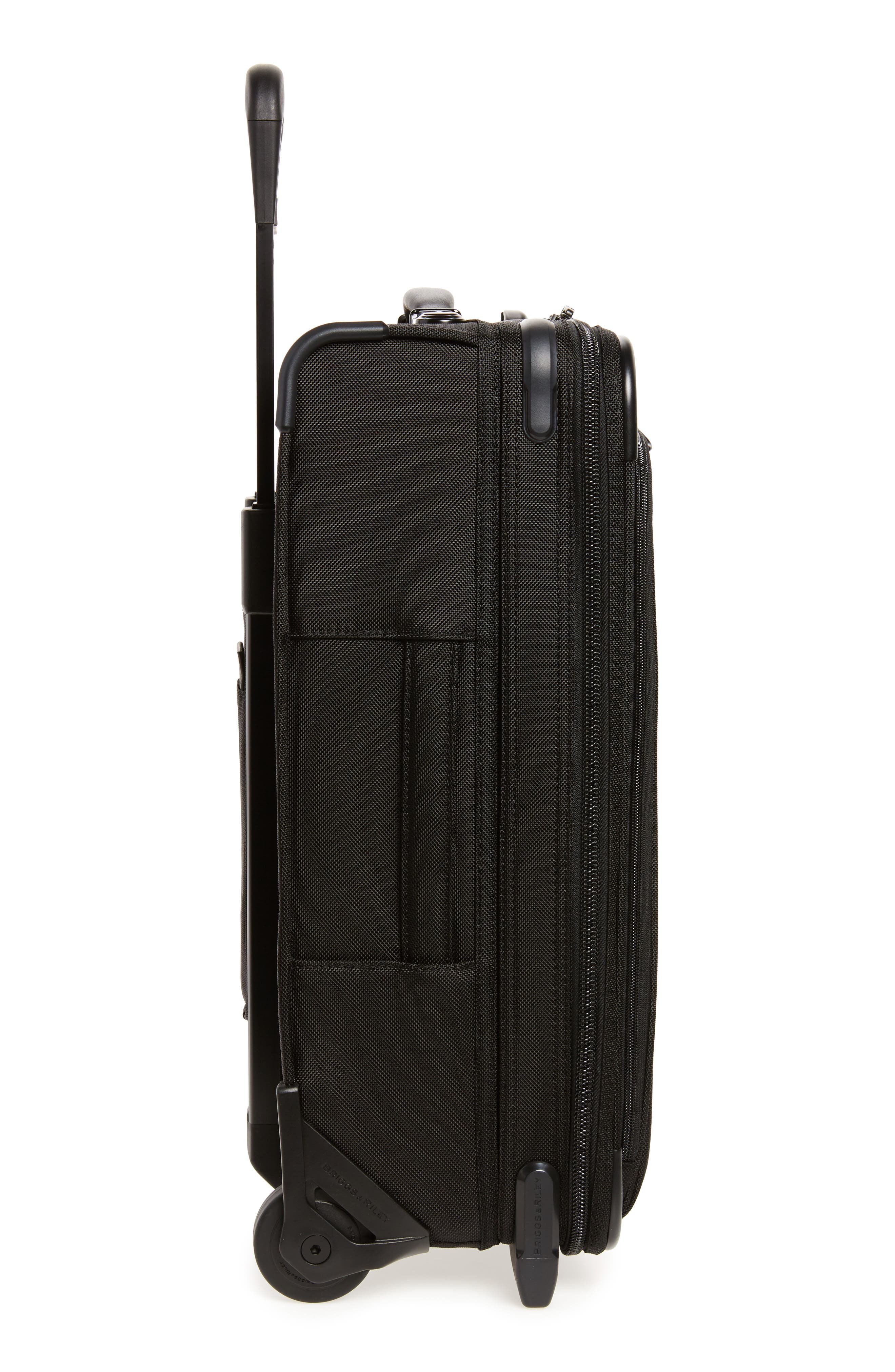 BRIGGS & RILEY, Baseline Domestic Expandable 22-Inch Rolling Carry-On, Alternate thumbnail 3, color, BLACK