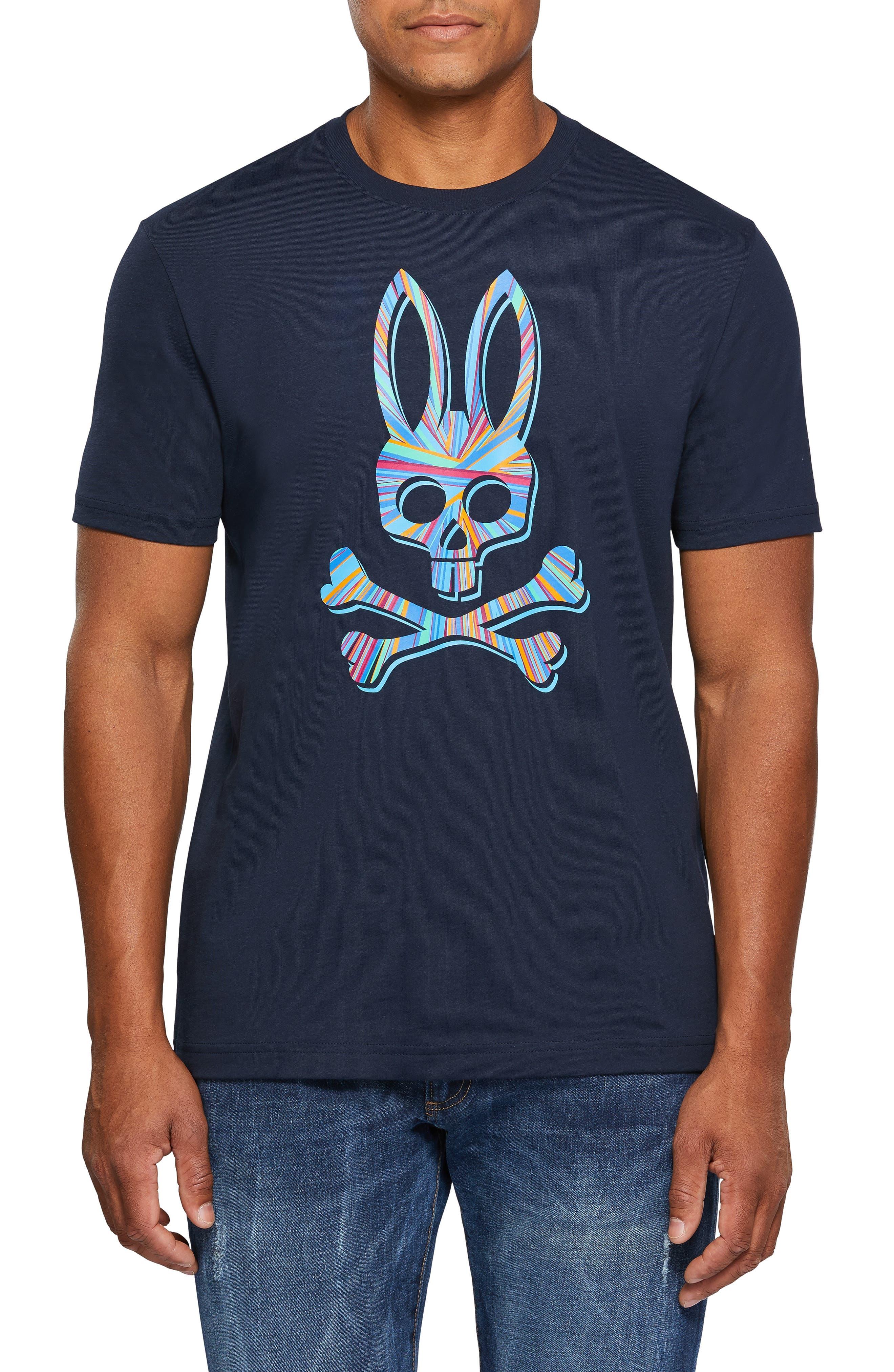 PSYCHO BUNNY, Logo Graphic T-Shirt, Main thumbnail 1, color, 400
