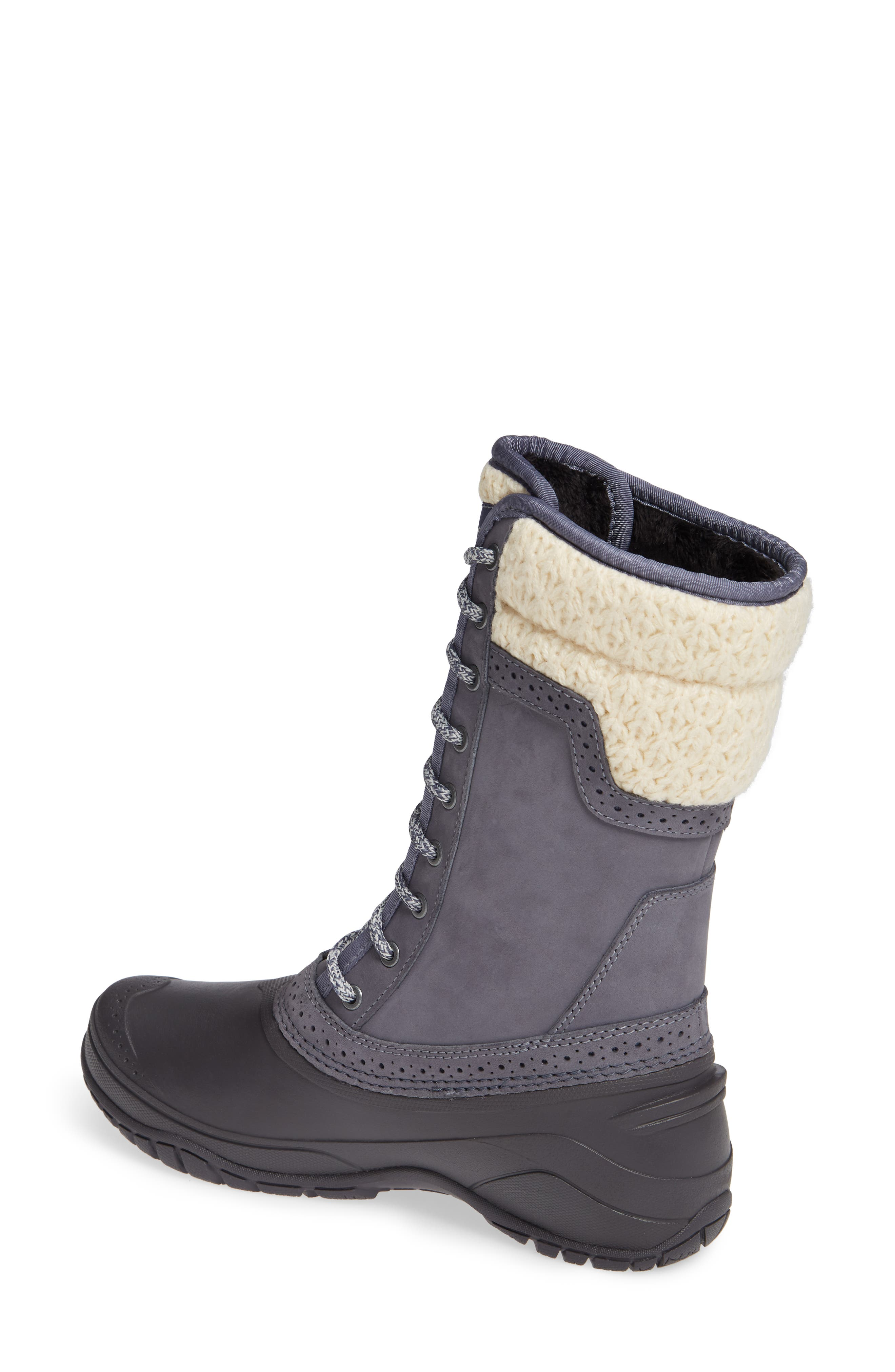 THE NORTH FACE, Shellista Waterproof Insulated Snow Boot, Alternate thumbnail 2, color, GRISAILLE GREY/ VINTAGE WHITE