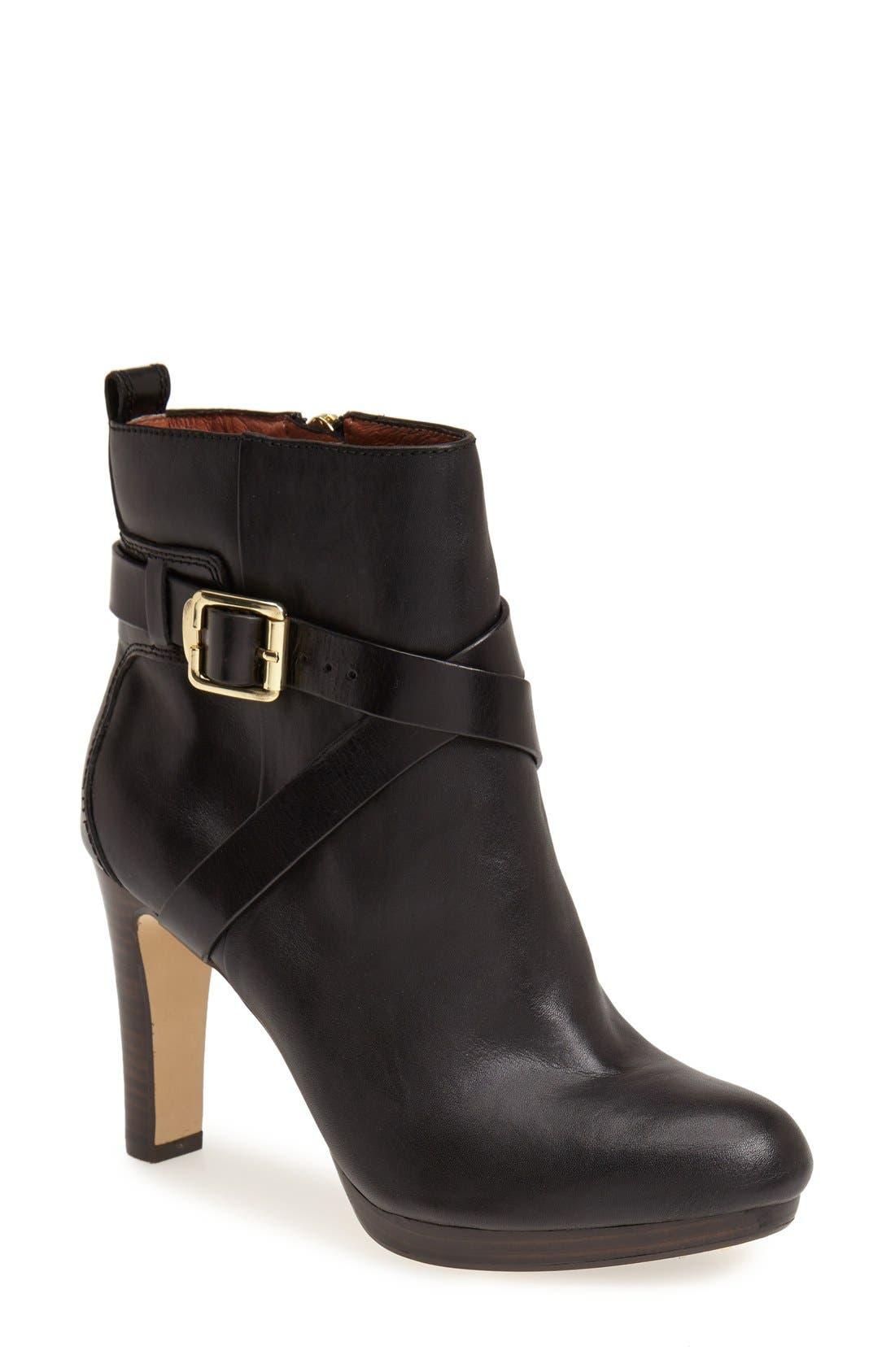LOUISE ET CIE, 'Labradora' Leather Platform Bootie, Main thumbnail 1, color, 001