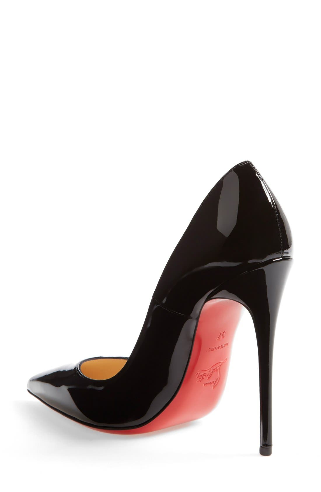 CHRISTIAN LOUBOUTIN, So Kate Pointy Toe Pump, Alternate thumbnail 2, color, BLACK