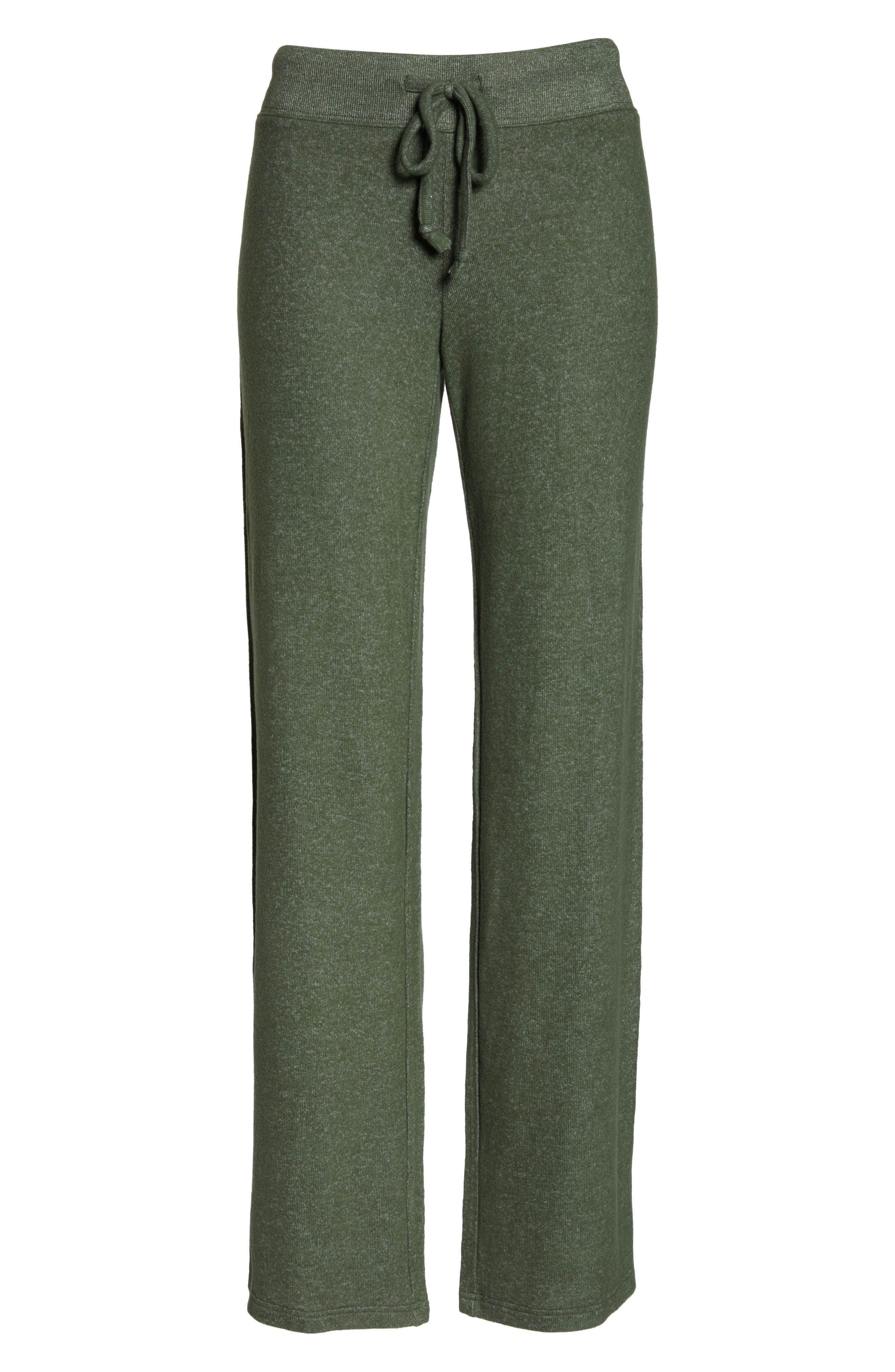 MAKE + MODEL, Best Boyfriend Brushed Hacci Lounge Pants, Alternate thumbnail 6, color, GREEN THYME