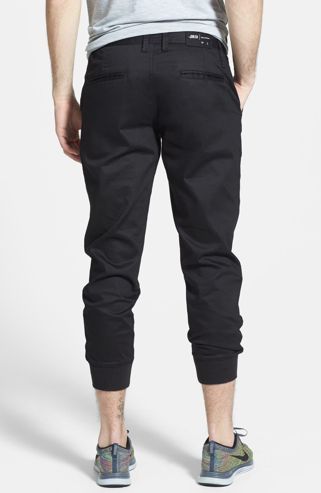 PUBLISH BRAND, 'Legacy' Tailored Fit Jogger Pants, Alternate thumbnail 2, color, 001