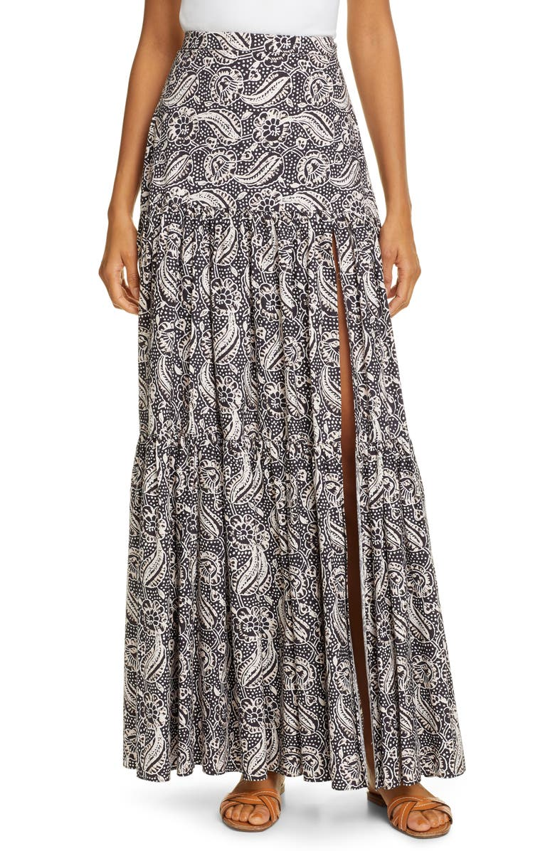 Veronica Beard Skirts SERENCE BATIK PRINT COTTON MAXI SKIRT