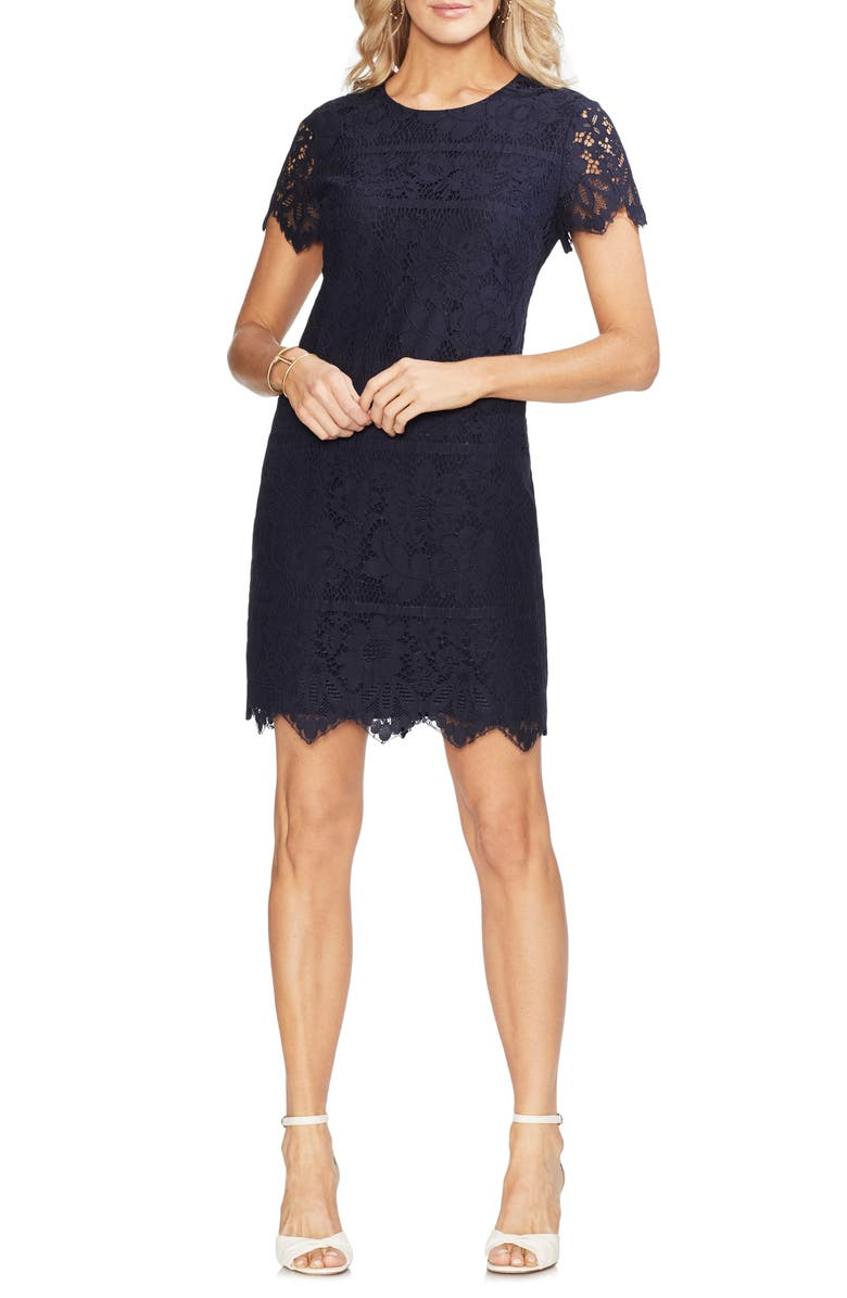 Vince Camuto Dresses BORDERED LACE SHIFT DRESS