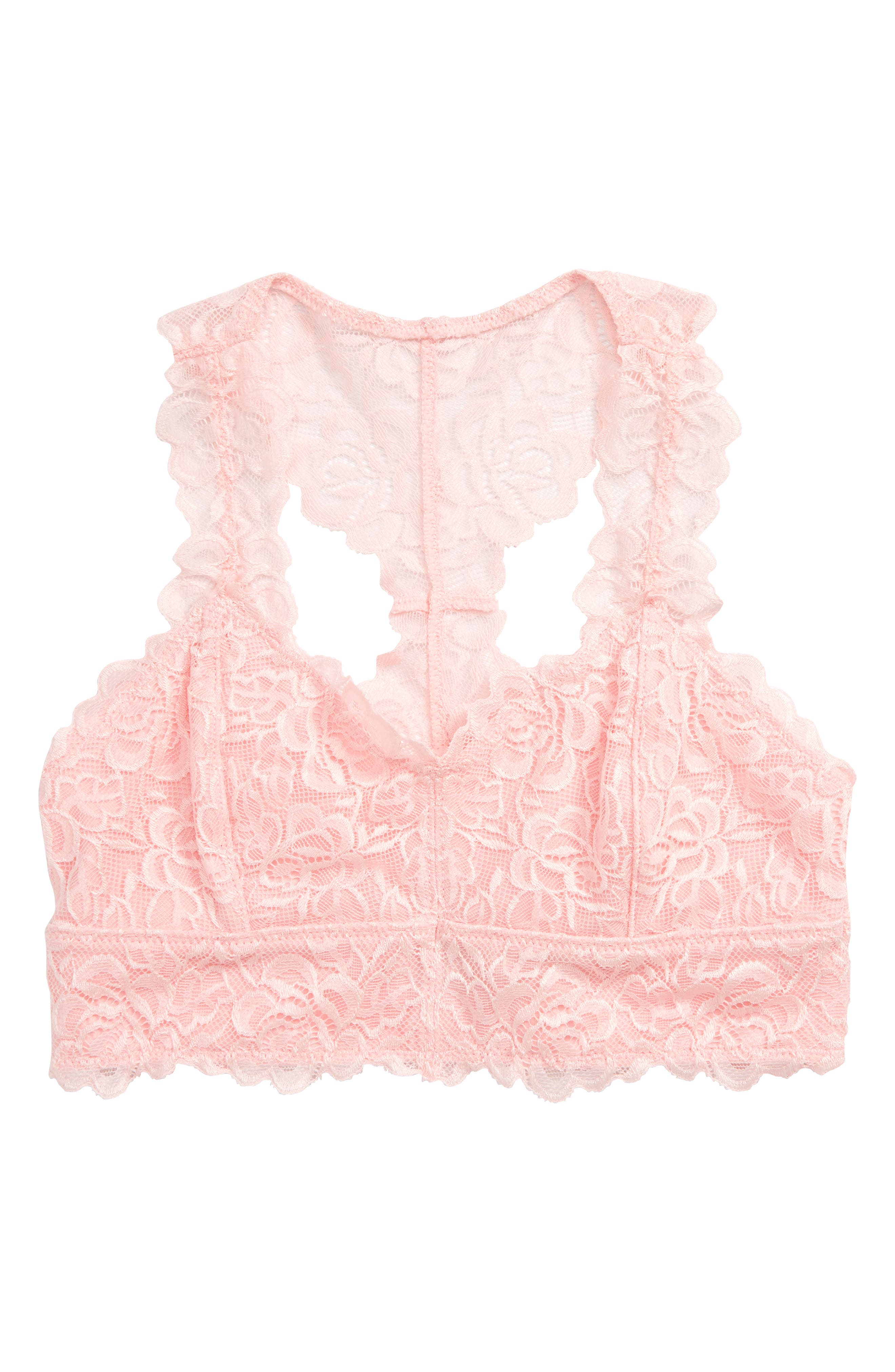 TUCKER + TATE Lace Bralette, Main, color, PINK BABY