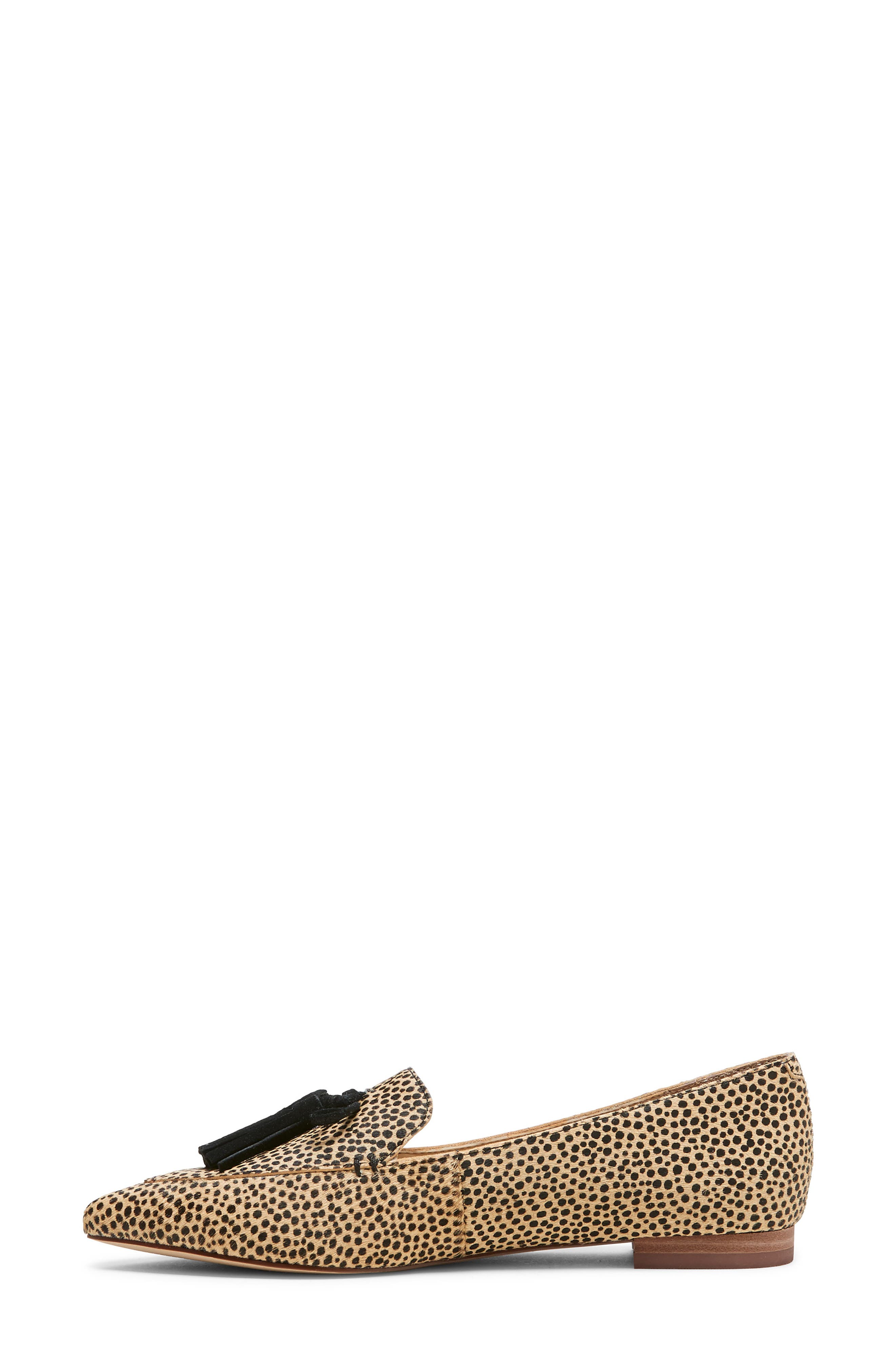 SOLE SOCIETY, Hadlee Loafer, Alternate thumbnail 5, color, DOTTED CALF HAIR