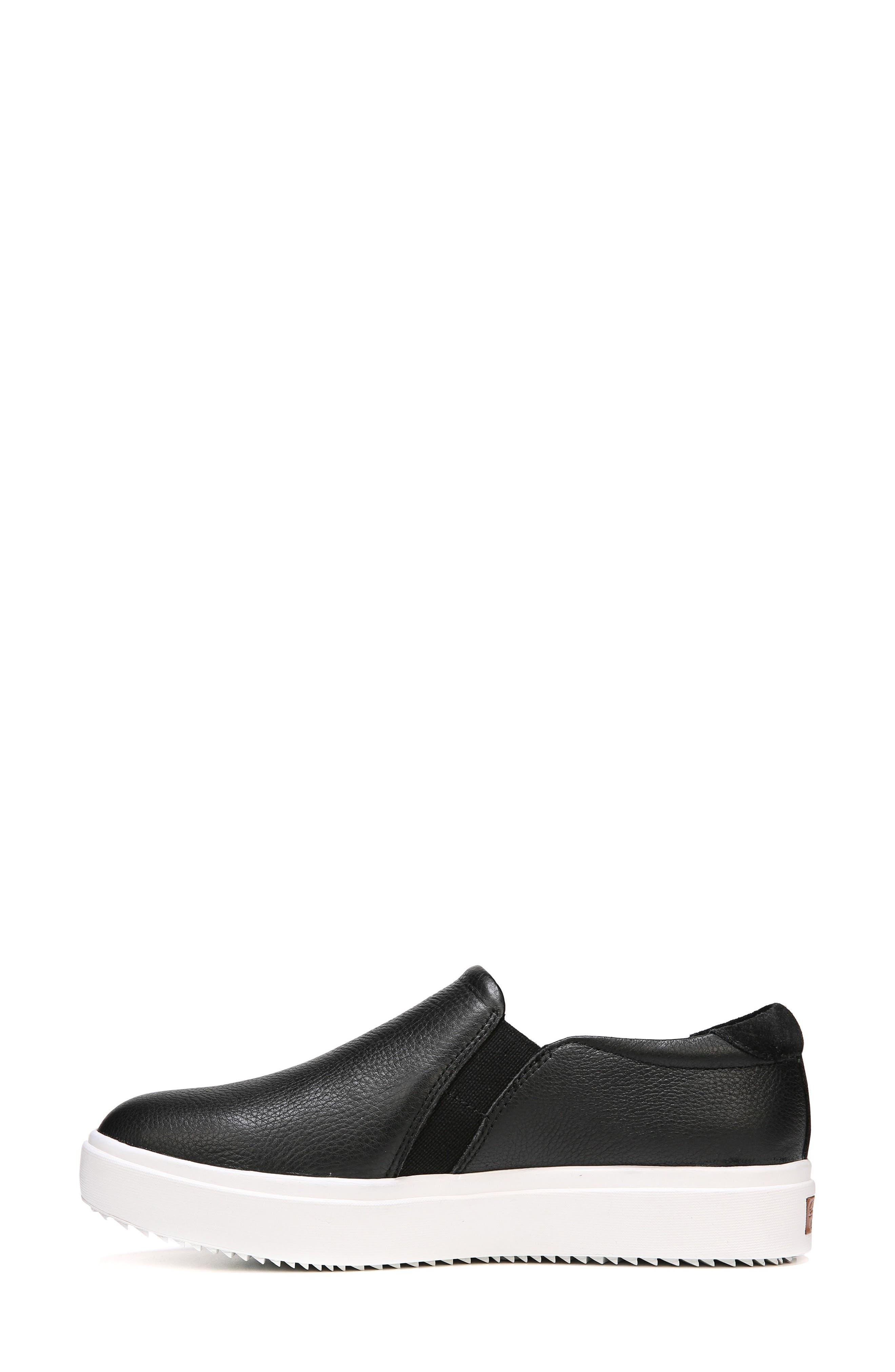 DR. SCHOLL'S, Leta Slip-On Sneaker, Alternate thumbnail 5, color, BLACK LEATHER