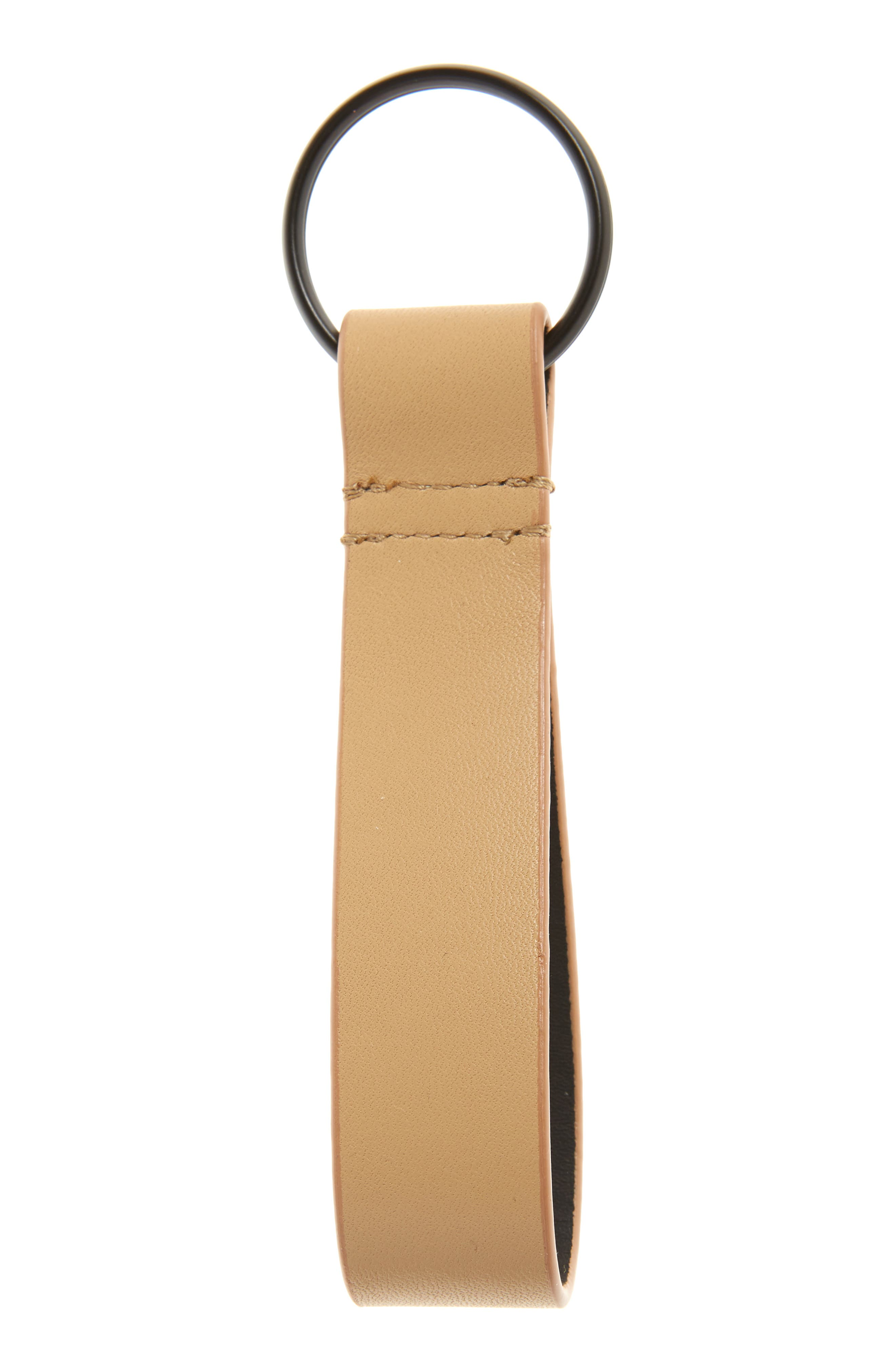 COMMON PROJECTS Nappa Leather Key Ring, Main, color, 250