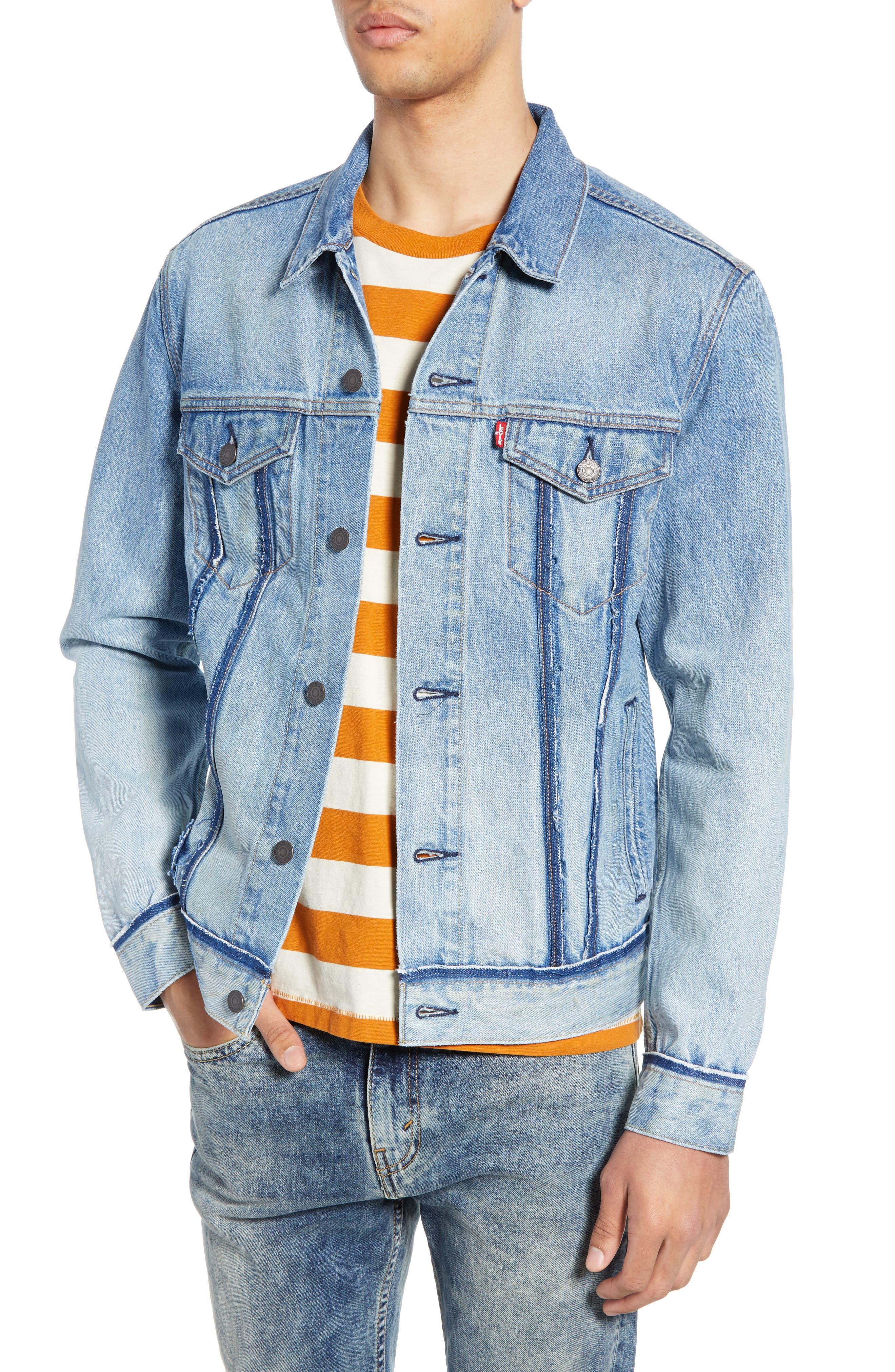 LEVI'S<SUP>®</SUP>, Denim Trucker Jacket, Main thumbnail 1, color, BECKER