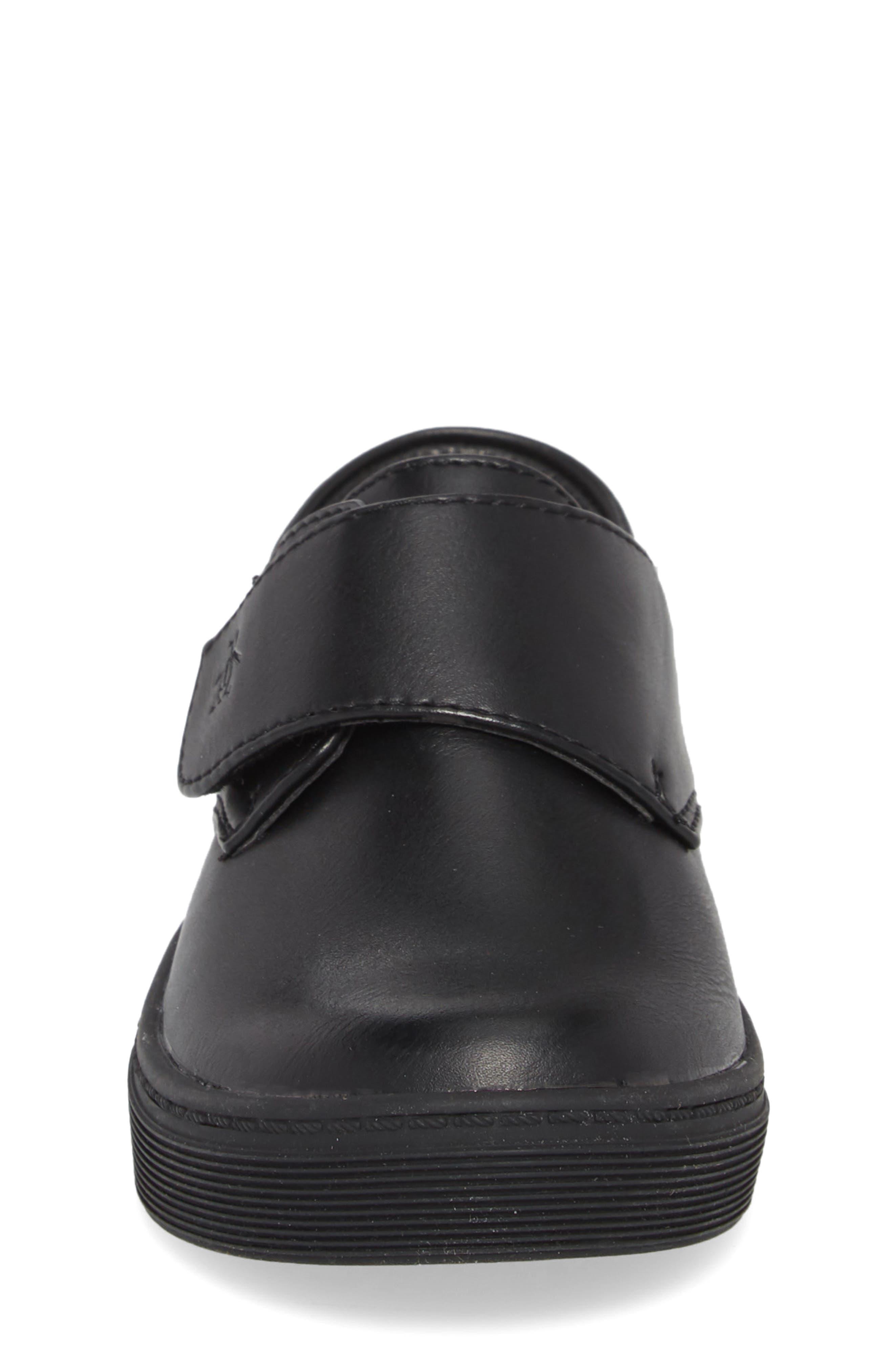 ORIGINAL PENGUIN, Felton Sneaker, Alternate thumbnail 4, color, BLACK/ BLACK