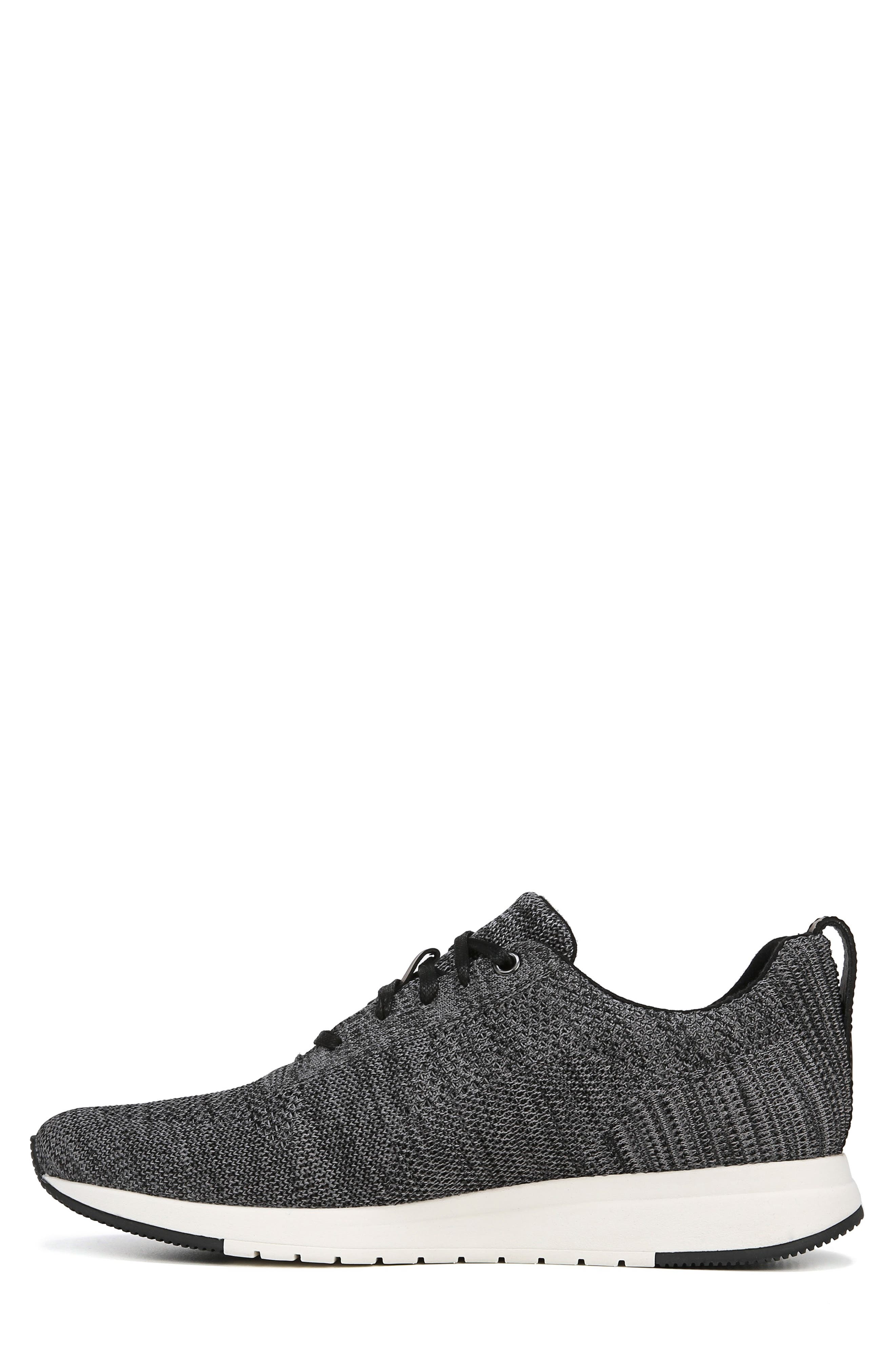 VINCE, Palo Knit Sneaker, Alternate thumbnail 8, color, MARL GREY/ BLACK
