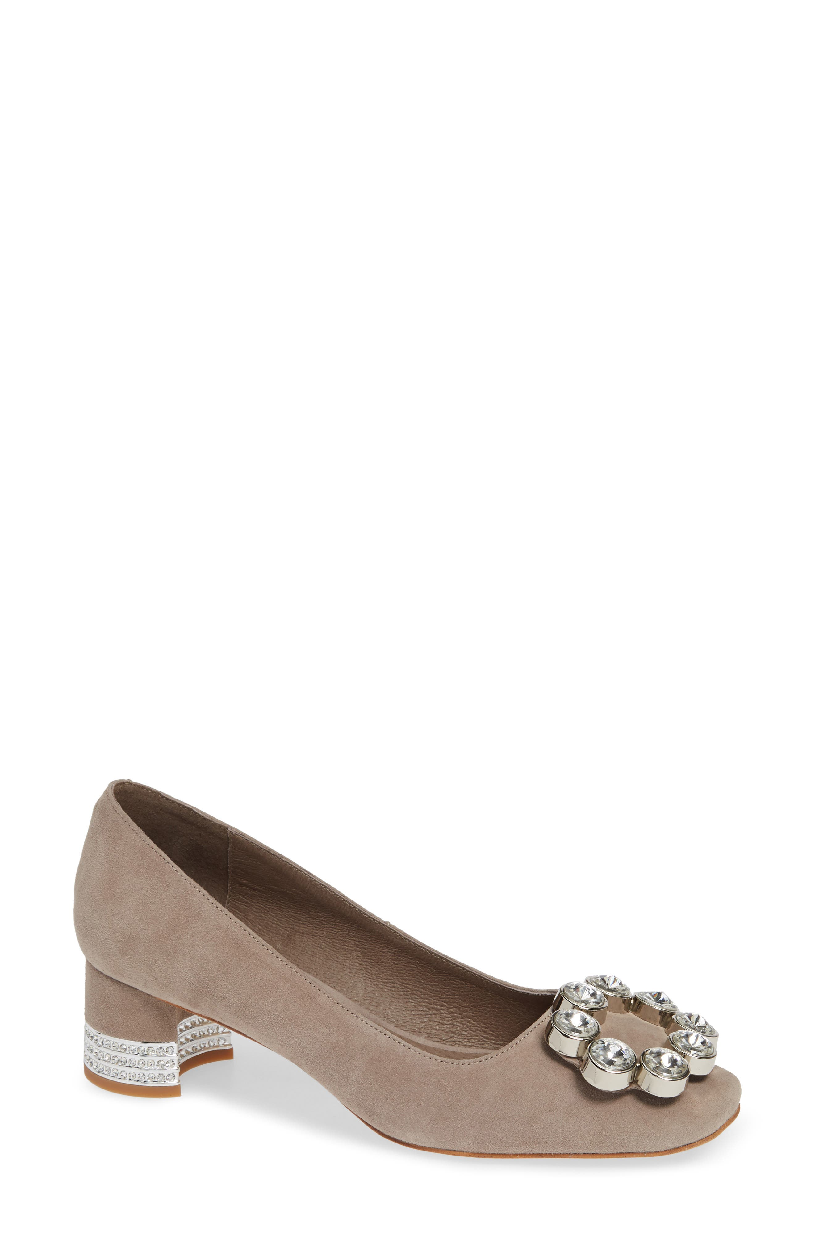 JEFFREY CAMPBELL, Carys Pump, Main thumbnail 1, color, TAUPE SUEDE