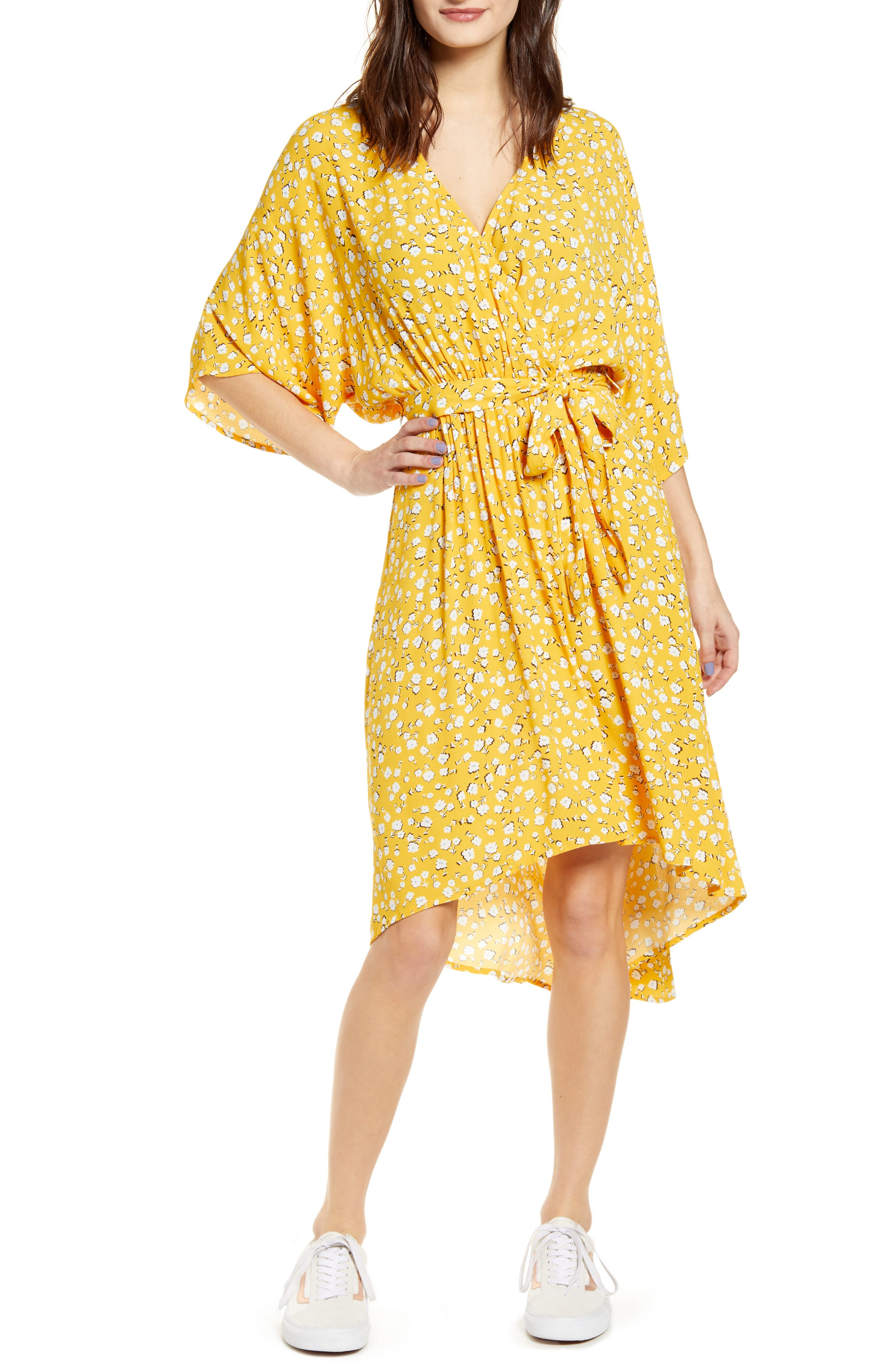 Minkpink Summer Daisy High/low Dress, Yellow