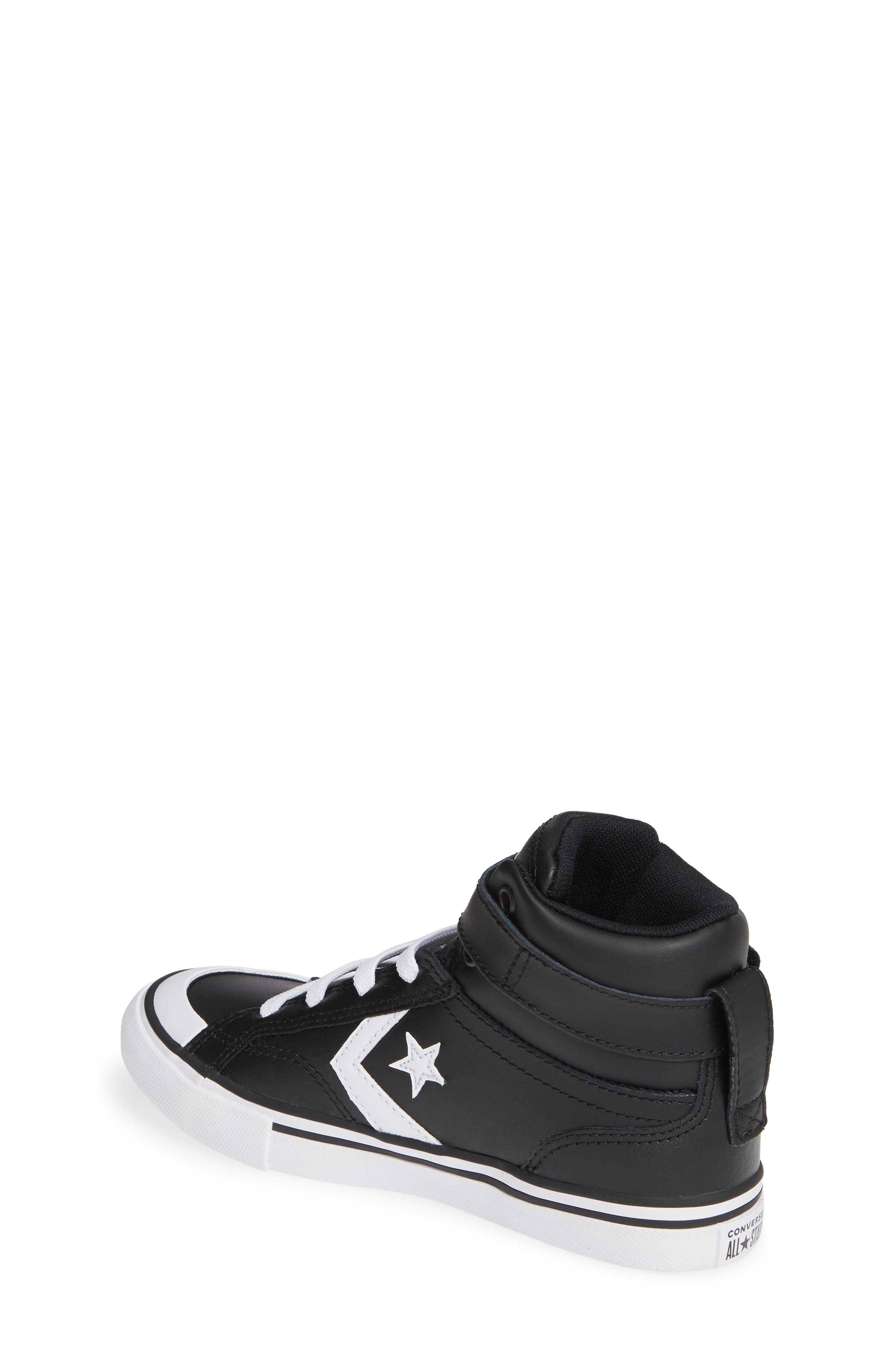 CONVERSE, Pro Blaze High Top Sneaker, Alternate thumbnail 2, color, BLACK/ WHITE/ WHITE