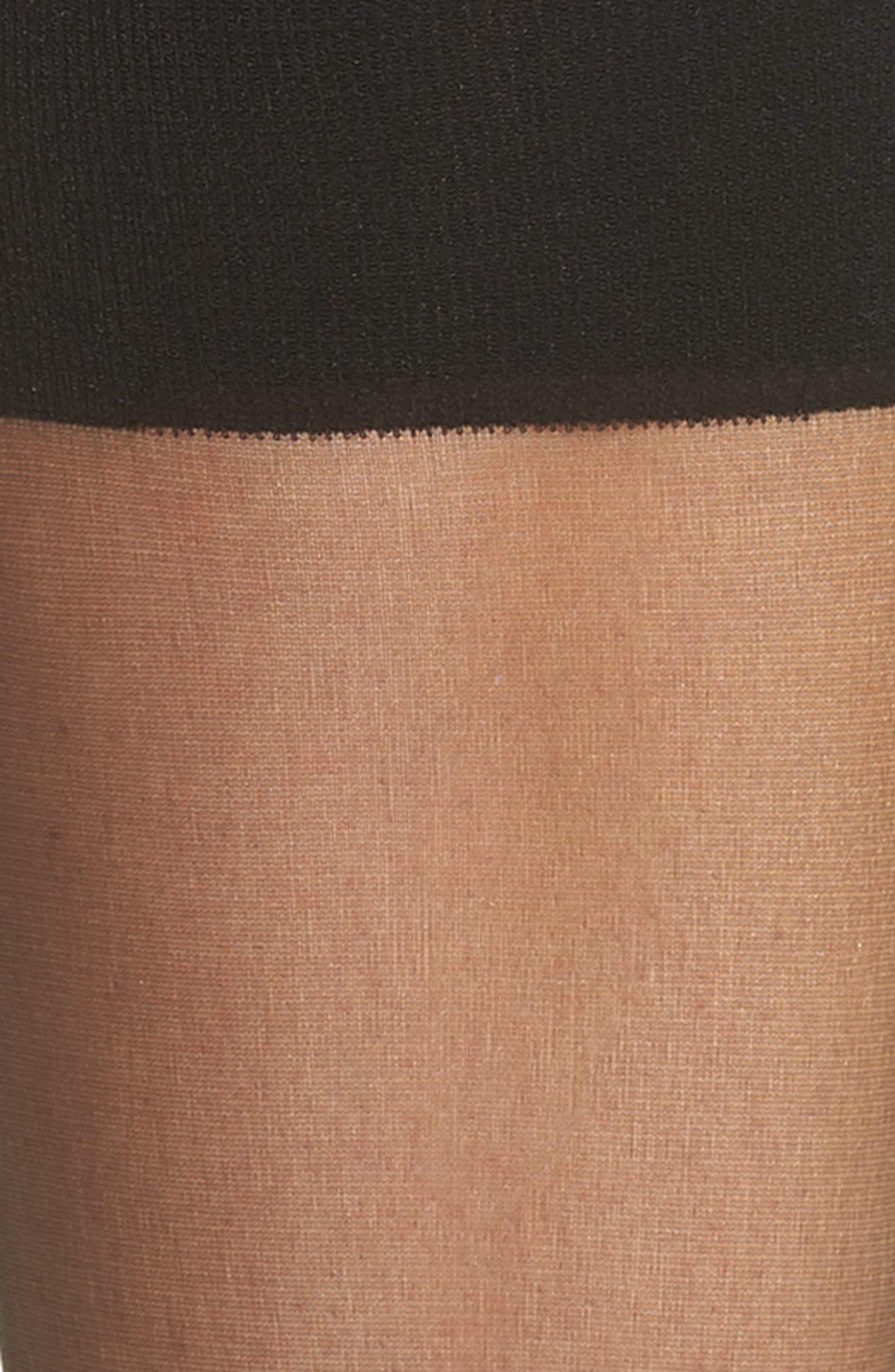 NORDSTROM, 2-Pack Naked Sheer Knee Highs, Alternate thumbnail 2, color, BLACK