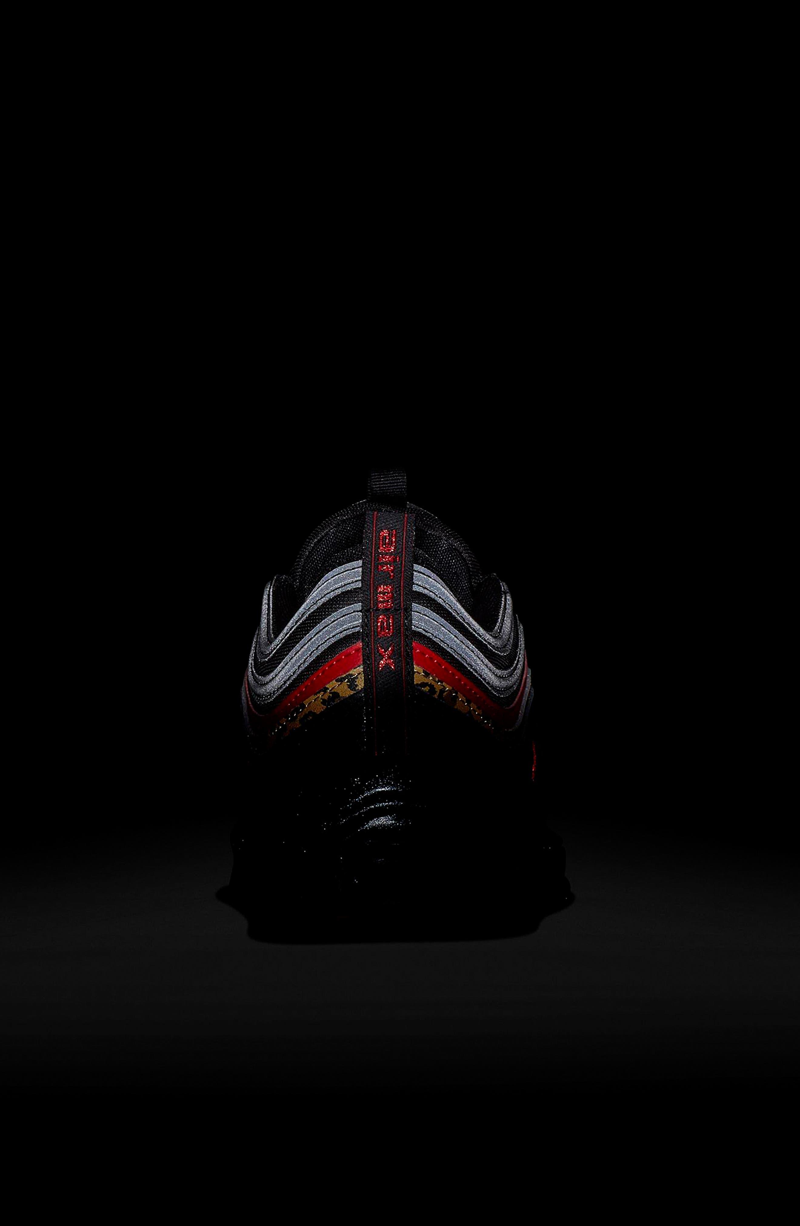 NIKE, Air Max 97 Sneaker, Alternate thumbnail 7, color, 001