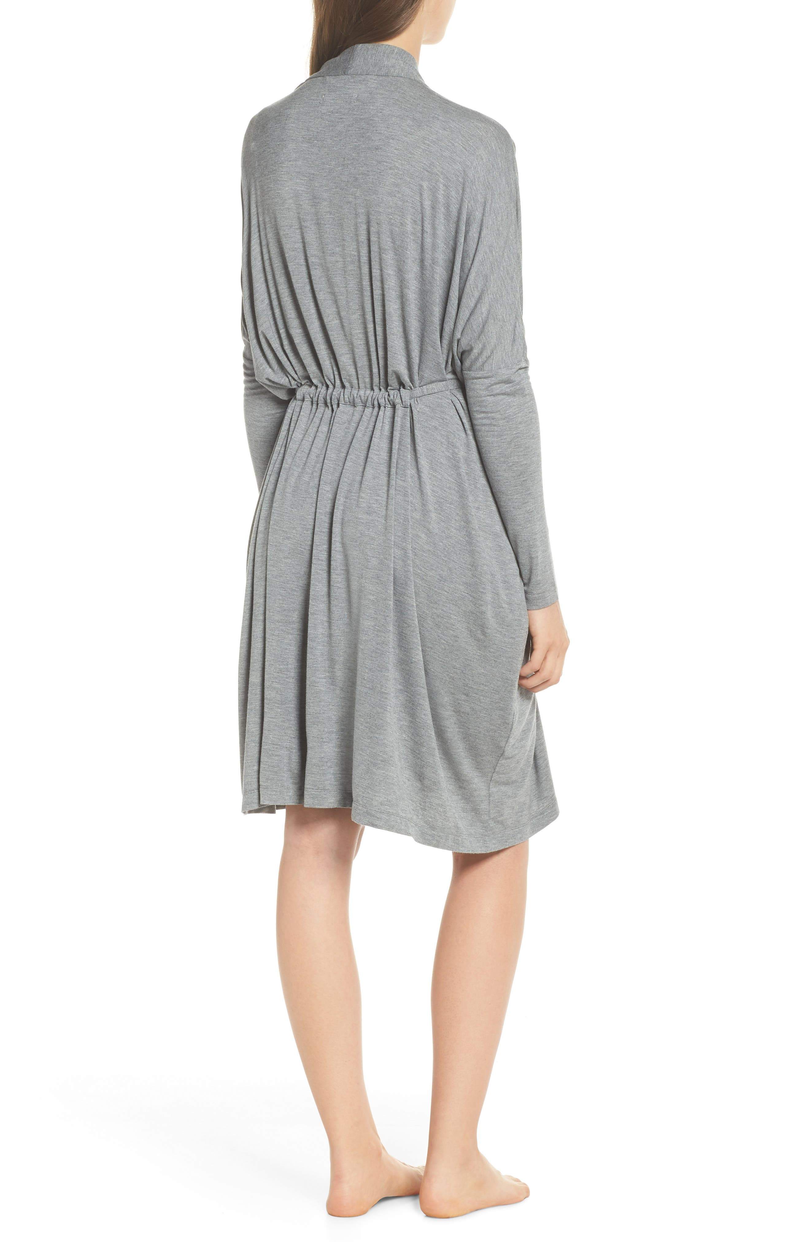 UGG<SUP>®</SUP>, Delanie Robe, Alternate thumbnail 2, color, GREY HEATHER