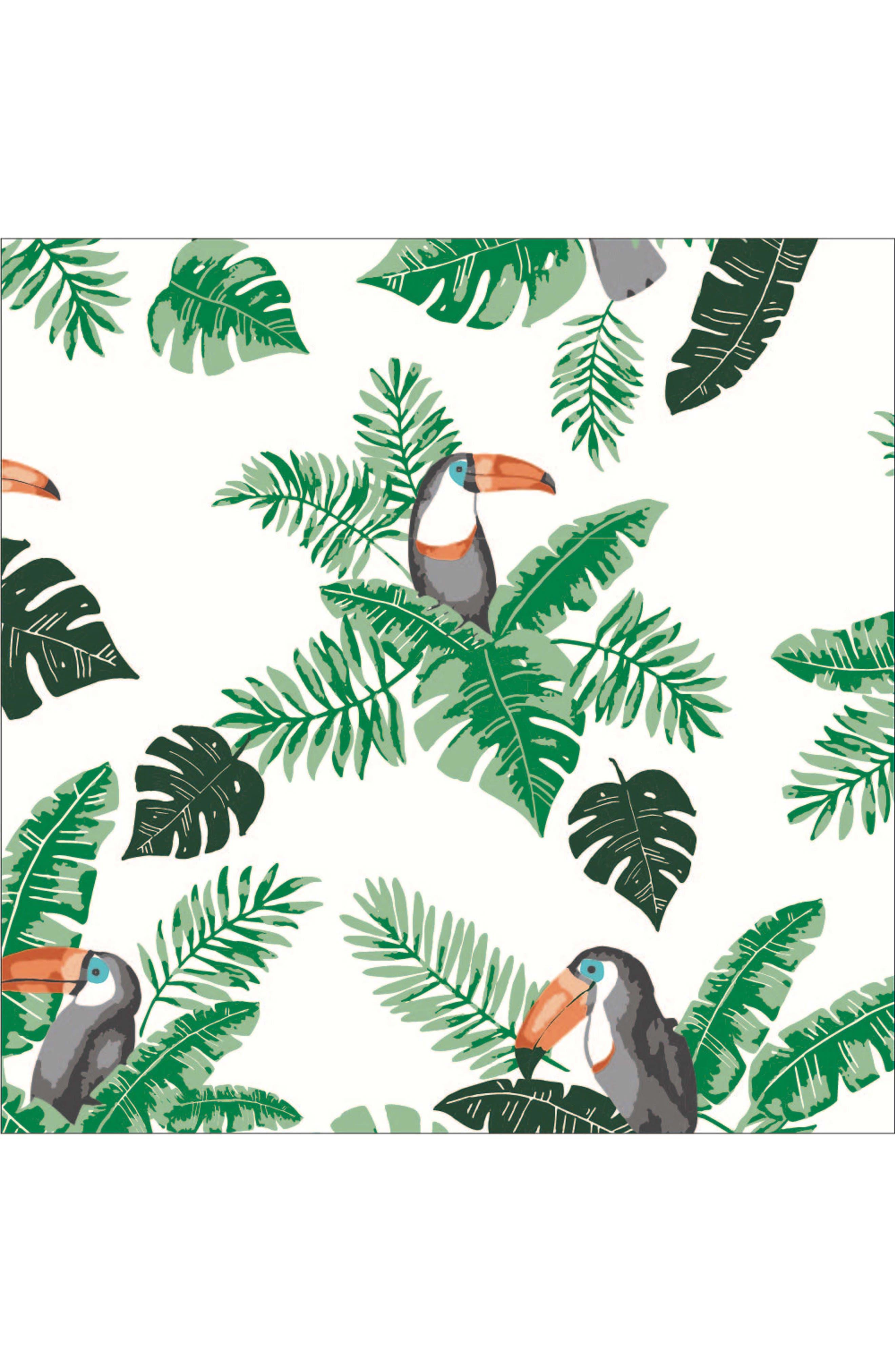 BÉBÉ AU LAIT, Rio Palms Muslin Snuggle Blanket, Alternate thumbnail 3, color, RIO & PALMS